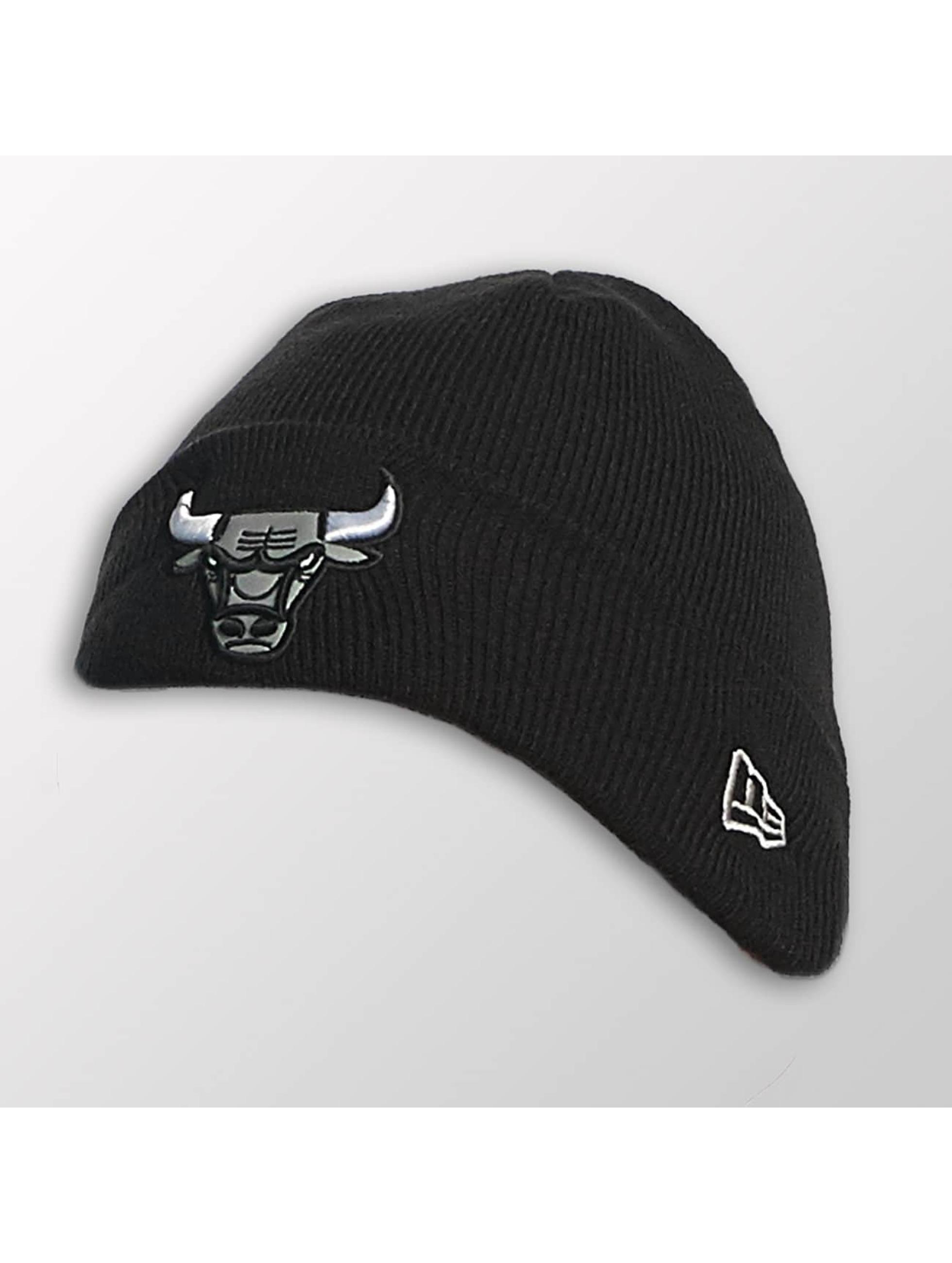 New Era Kinder Beanie Reflect Cuff Knit Chicago Bulls in schwarz