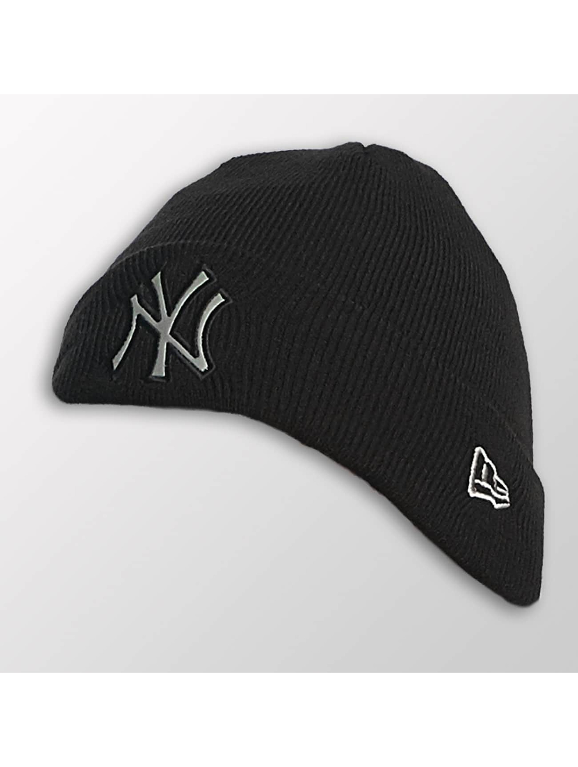 New Era Kinder Beanie Reflect Cuff Knit NY Yankees in schwarz