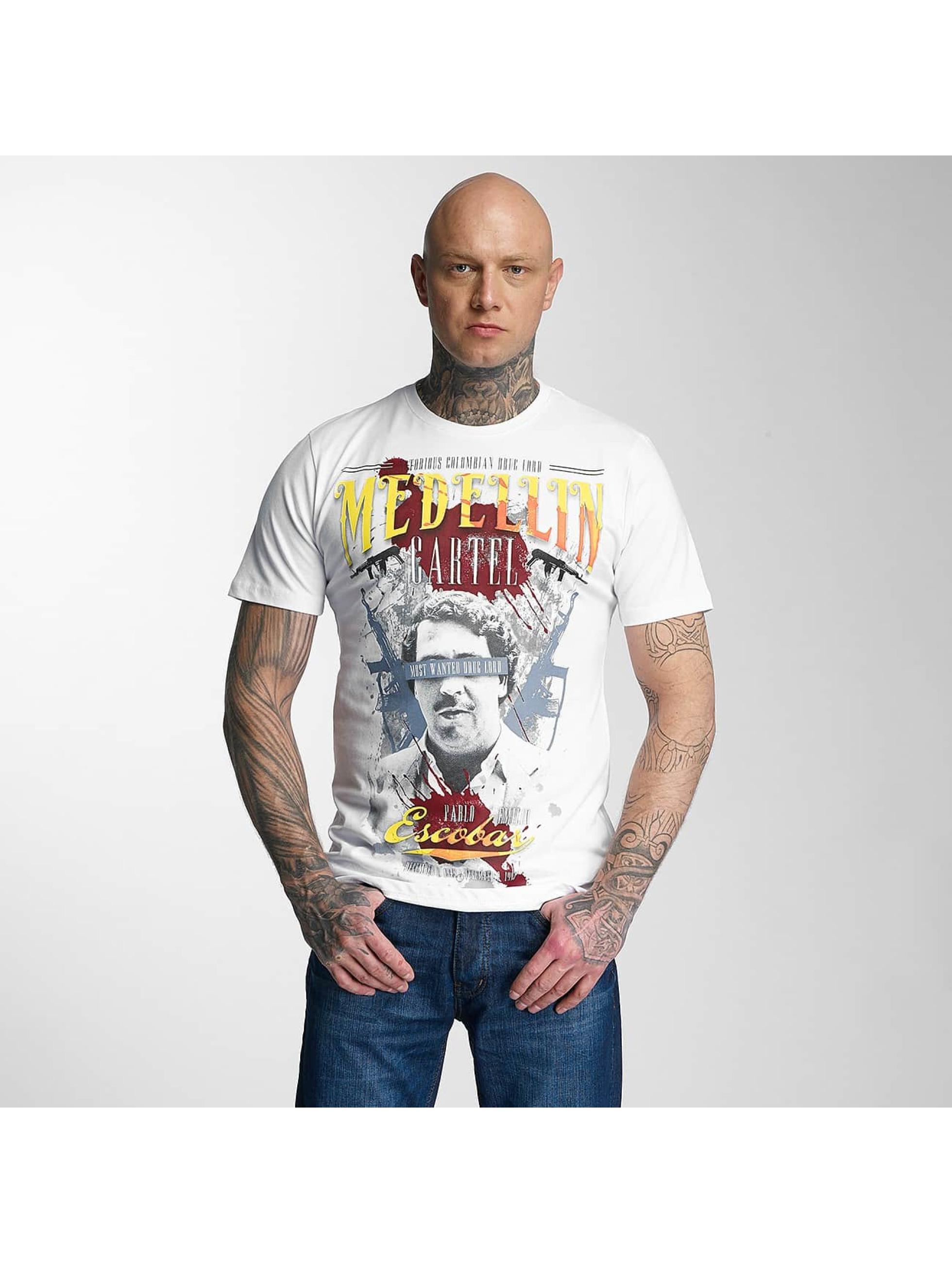 Mafia & Crime Männer T-Shirt Medellin Escobar in weiß