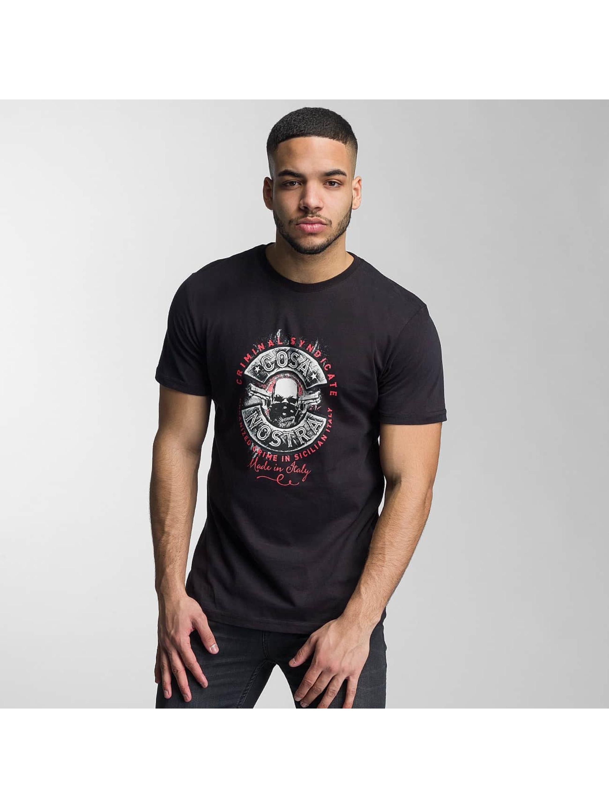 Mafia & Crime Männer T-Shirt Cosa Nostra in schwarz