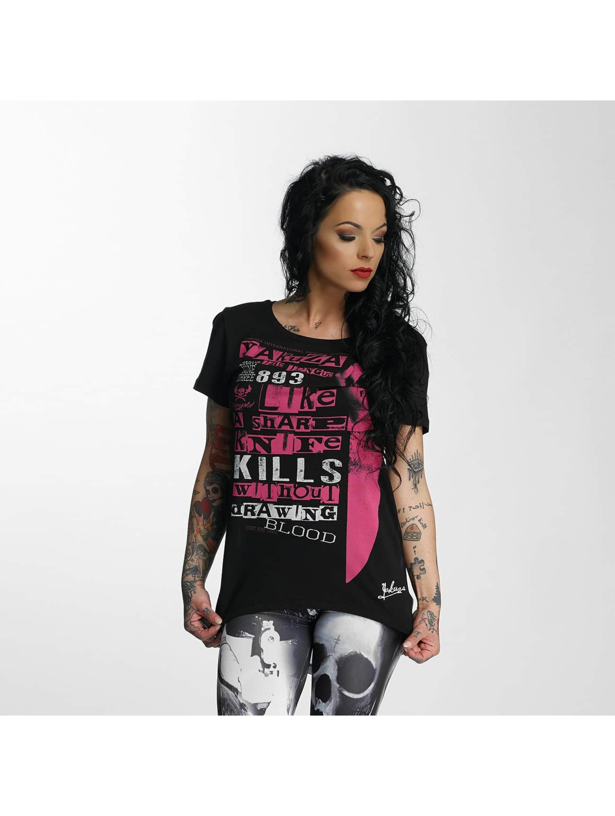 Yakuza Frauen T-Shirt Sharp Knife Limpid in schwarz