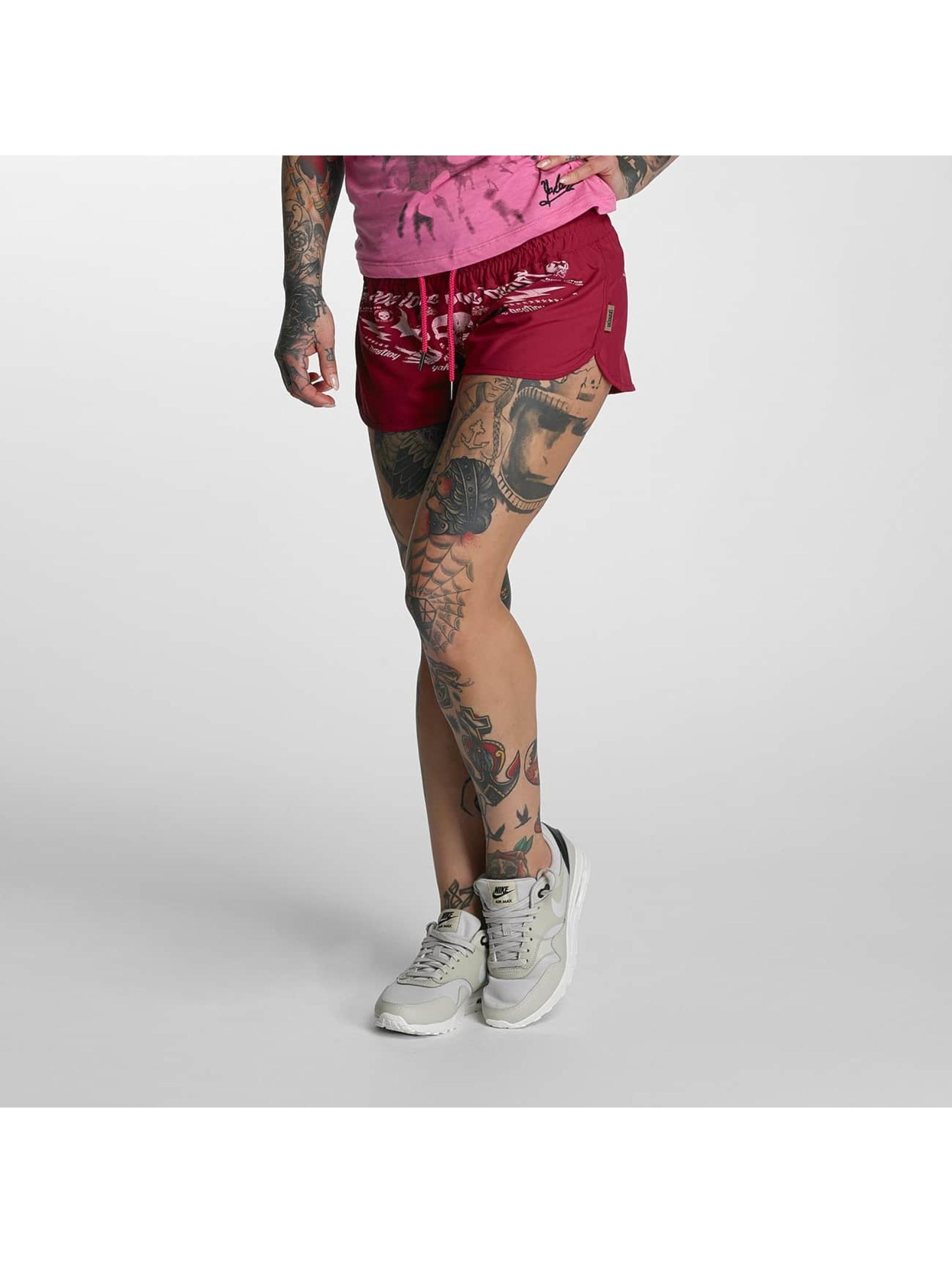 Yakuza Frauen Shorts Sweat in rot