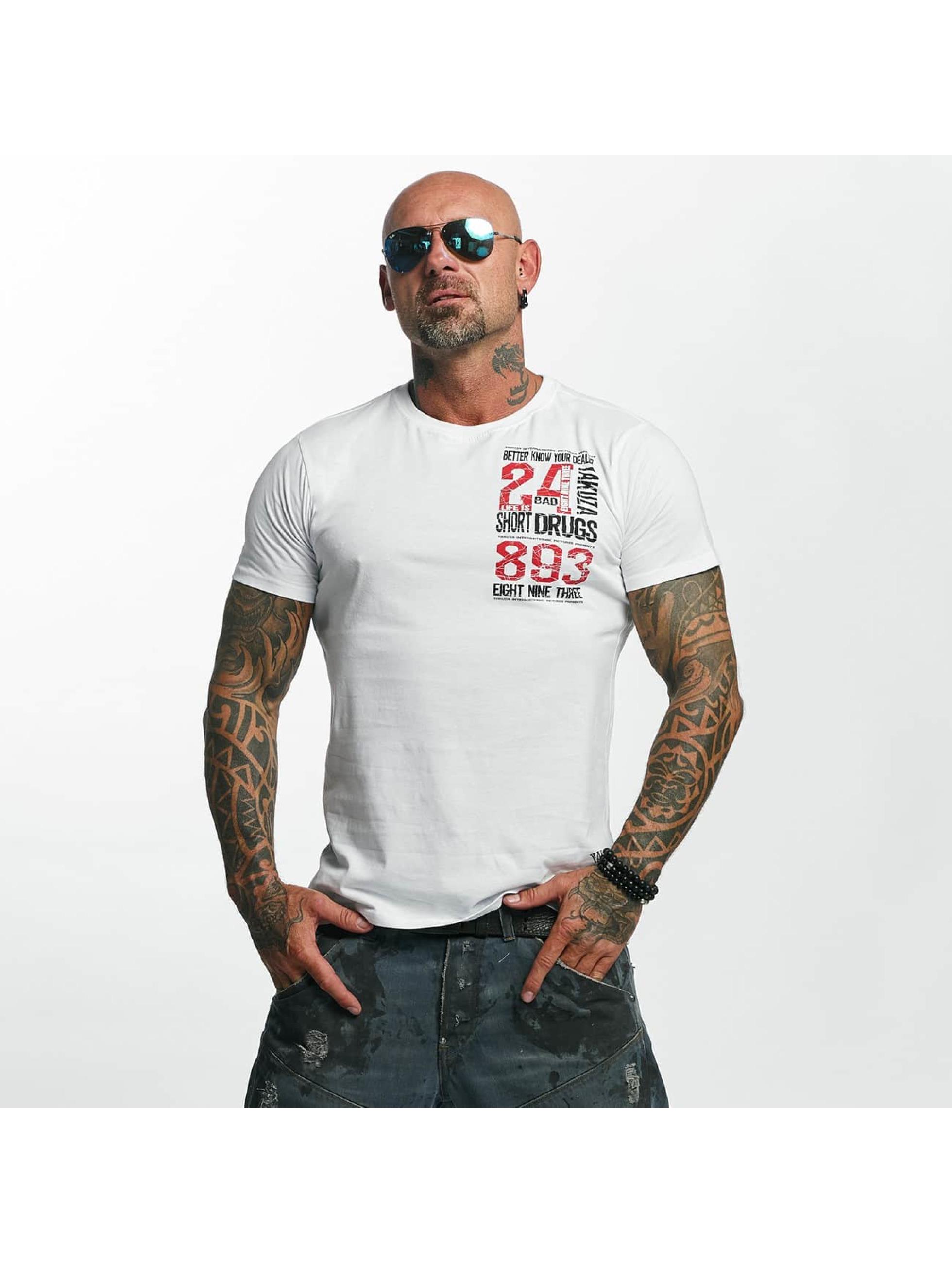 Yakuza Männer T-Shirt Know Your Dealer in weiß