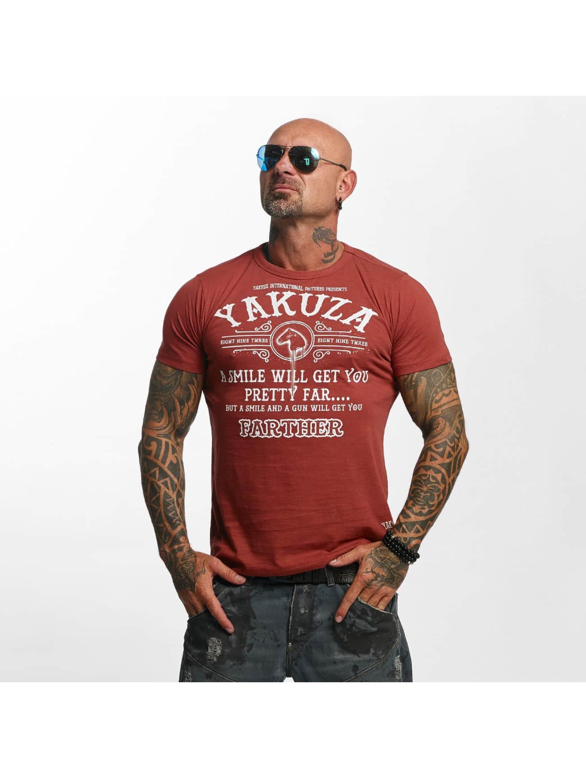 Yakuza Männer T-Shirt Farther in rot
