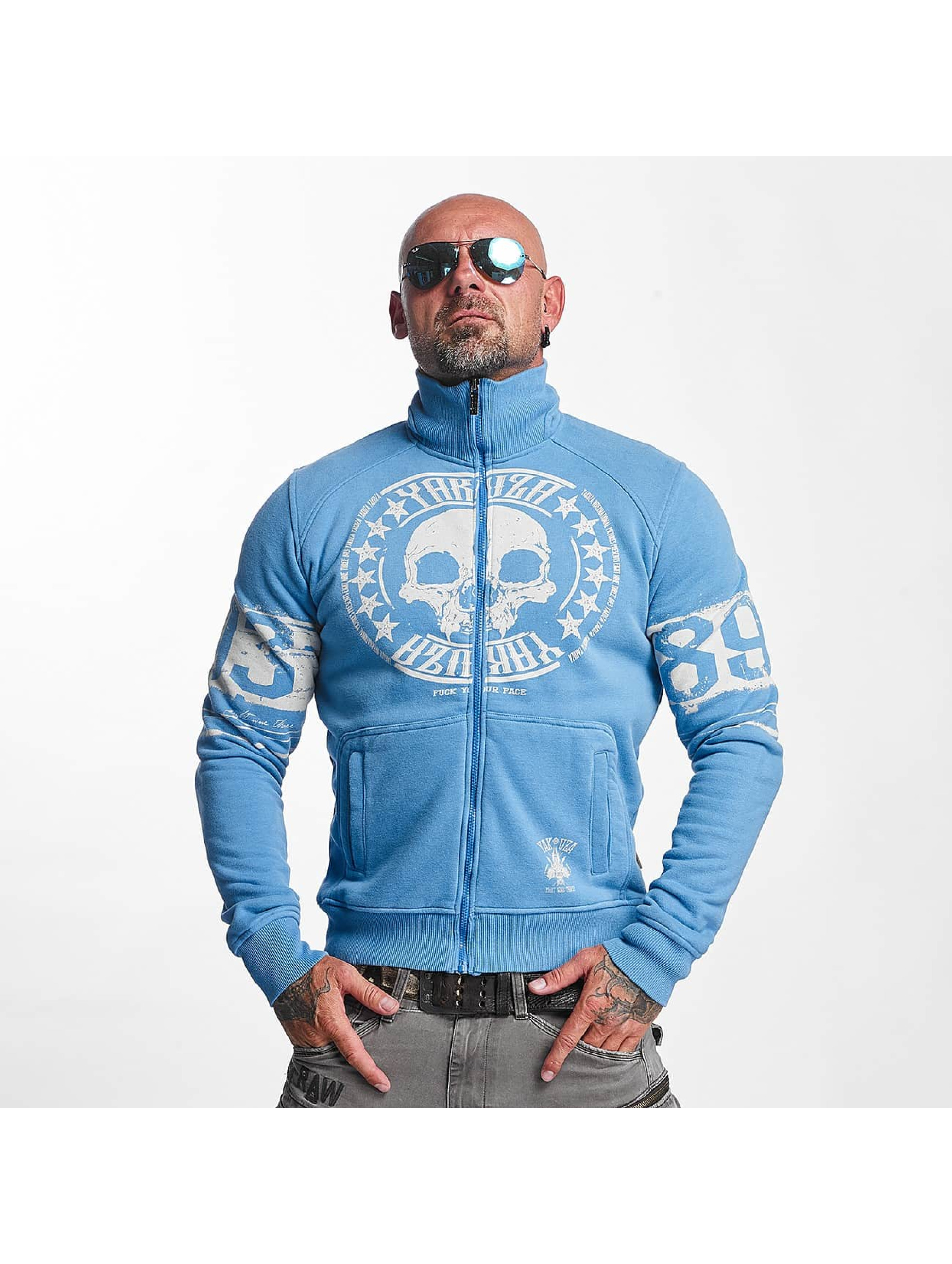 Yakuza Männer Übergangsjacke Skull Label in blau
