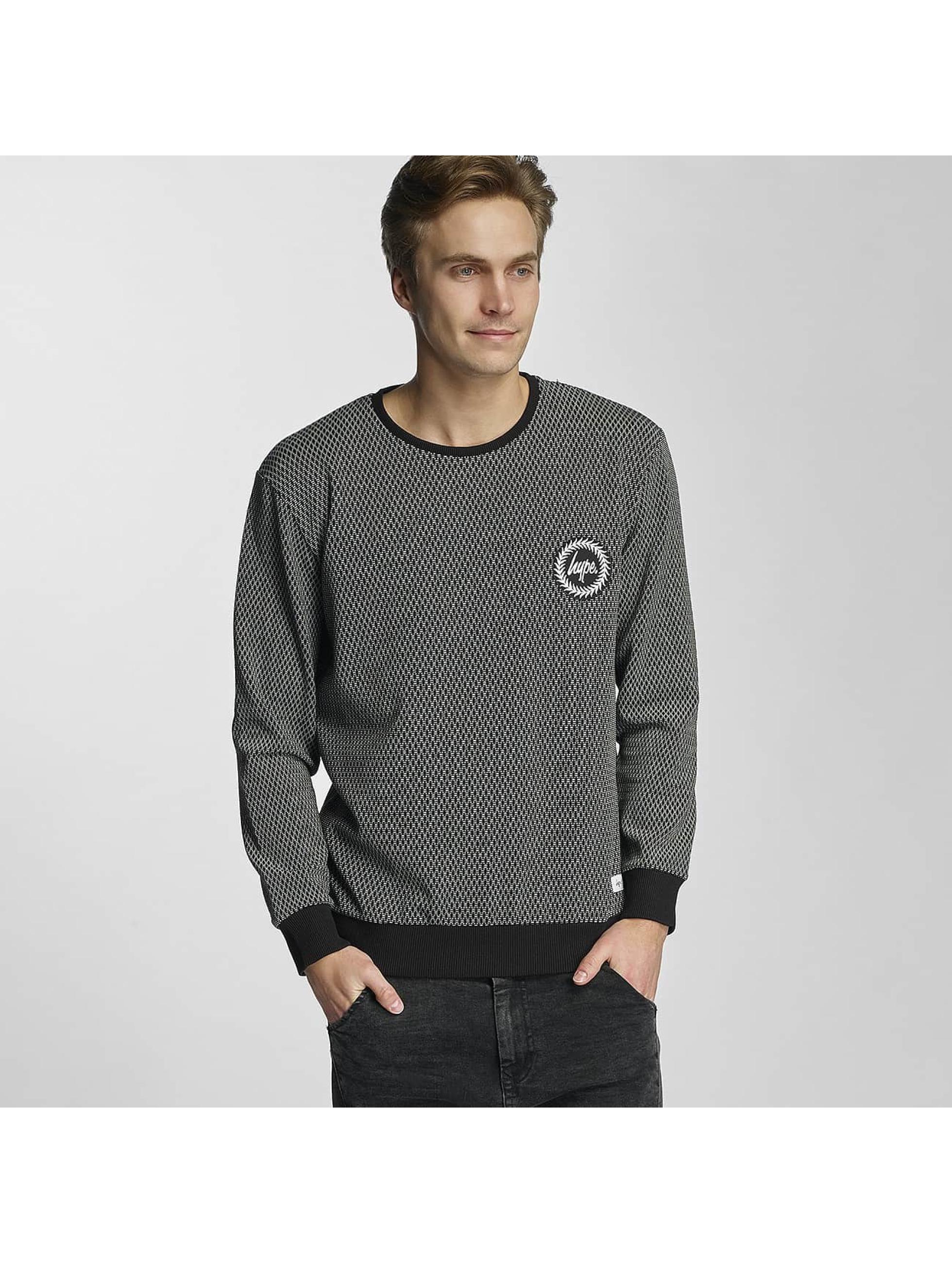 HYPE Männer Pullover Aliminium in schwarz