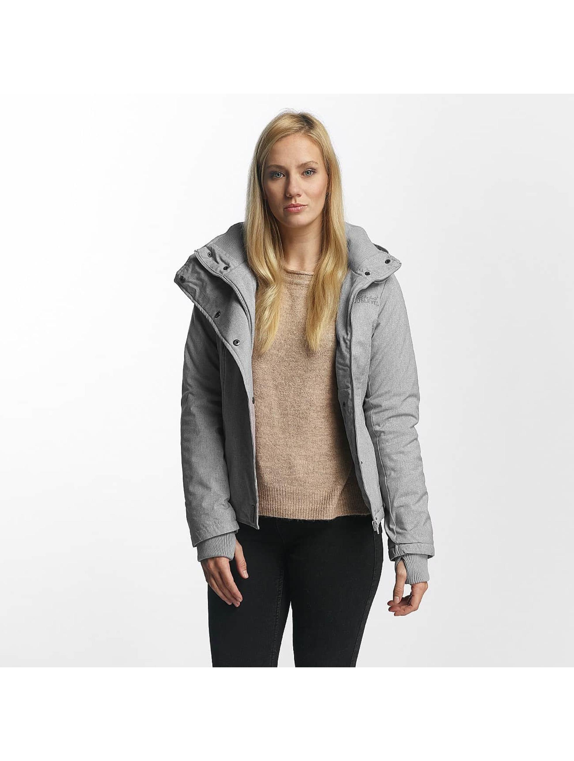 Sublevel Frauen Winterjacke Jacket Pencil in grau