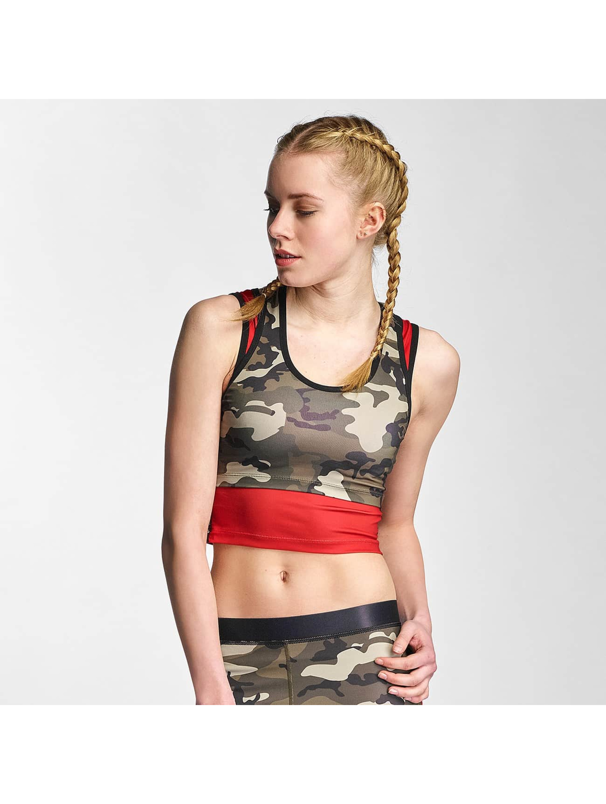 Sixth June Frauen Tank Tops 2 in 1 in camouflage