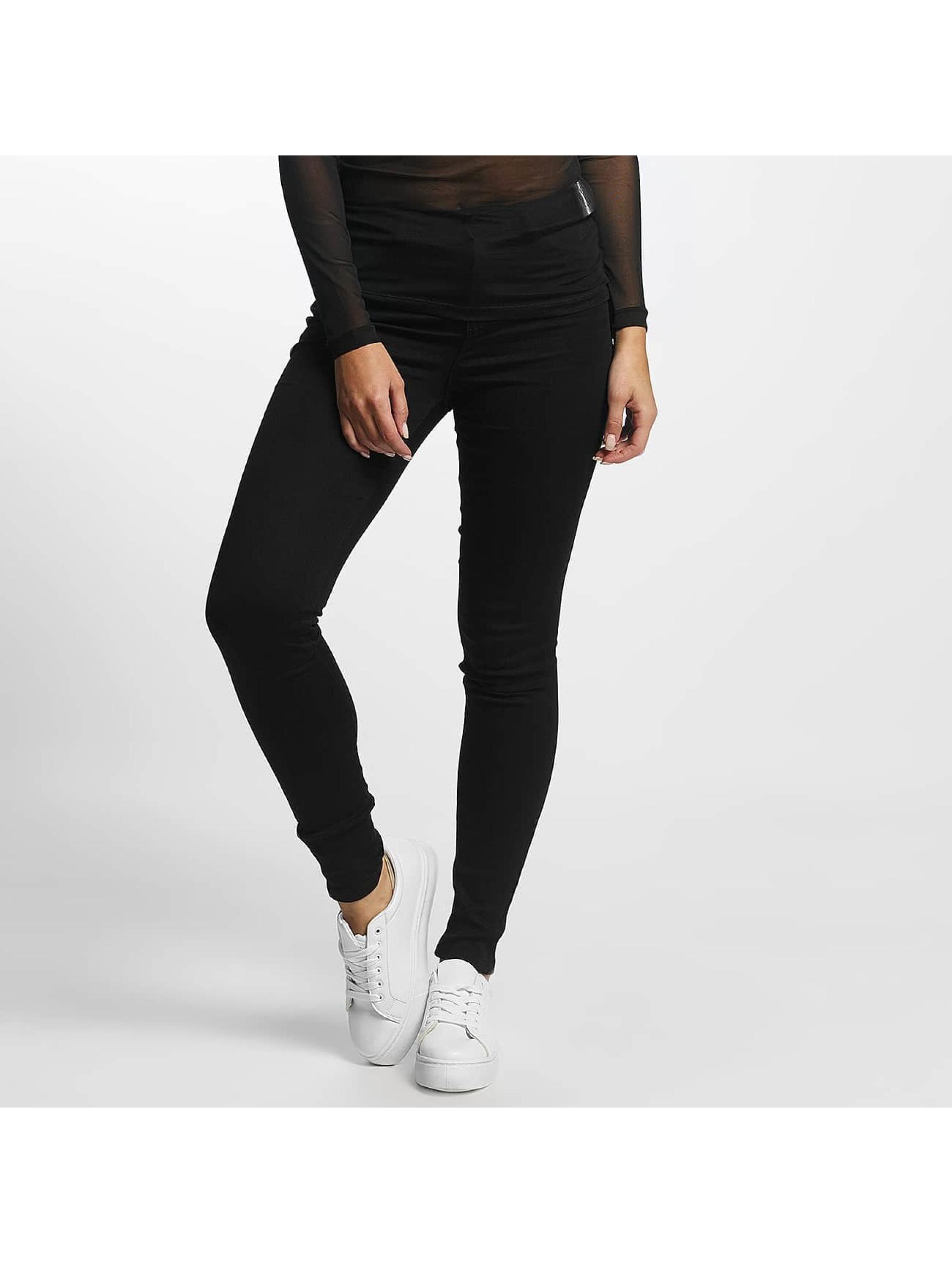 JACQUELINE de YONG Frauen High Waist Jeans jdySkinny Ulle in schwarz