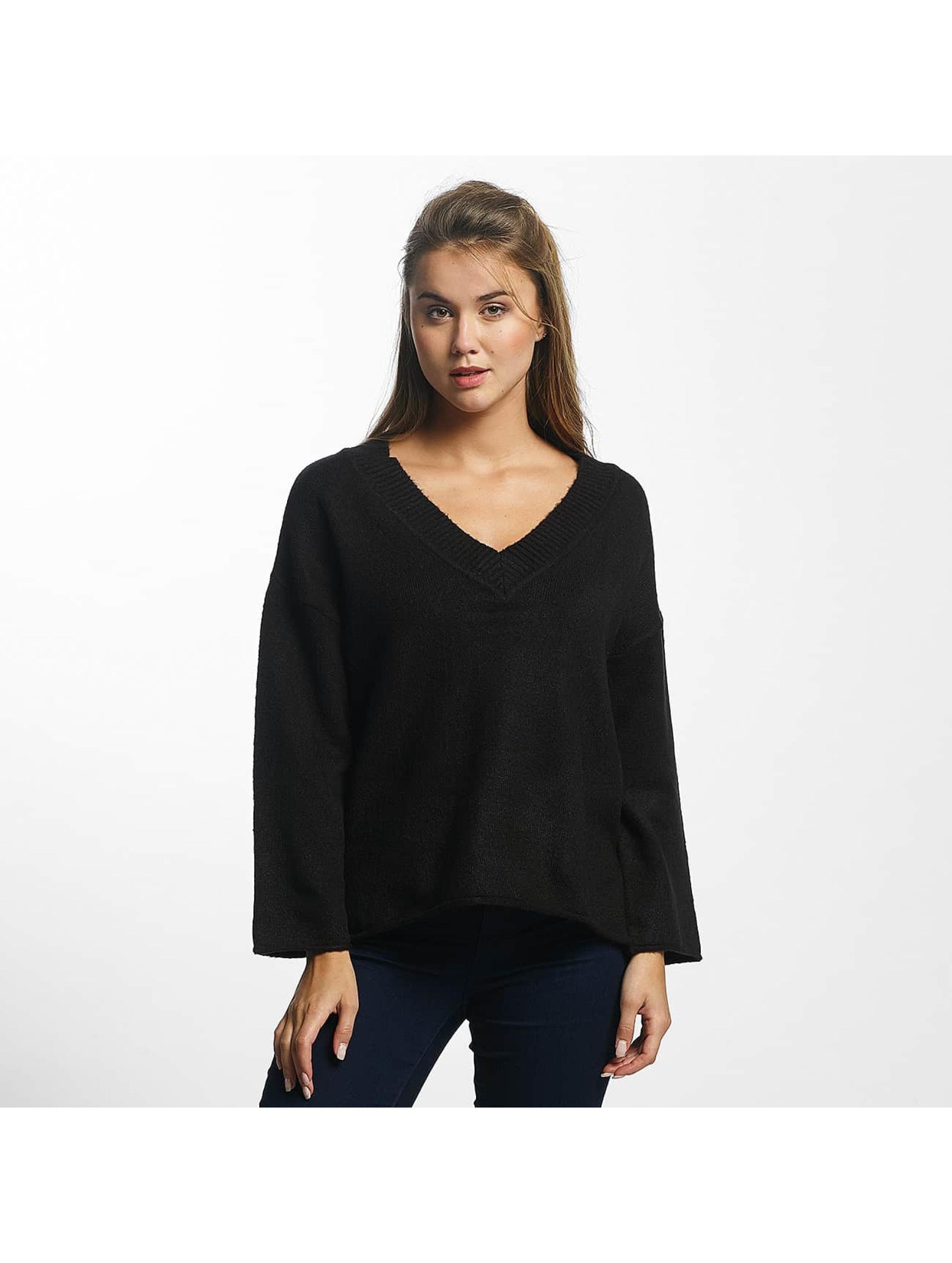 JACQUELINE de YONG Frauen Pullover jdyDuo V-Neck in schwarz