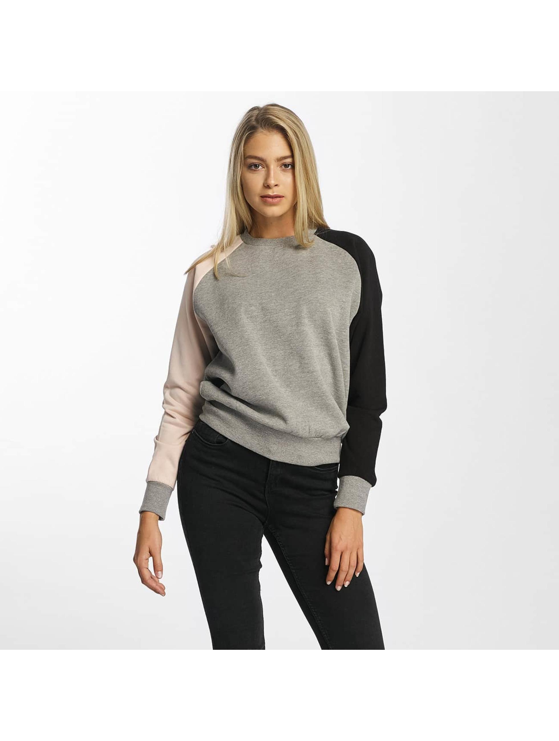 DEF Frauen Pullover Colorblocking in grau