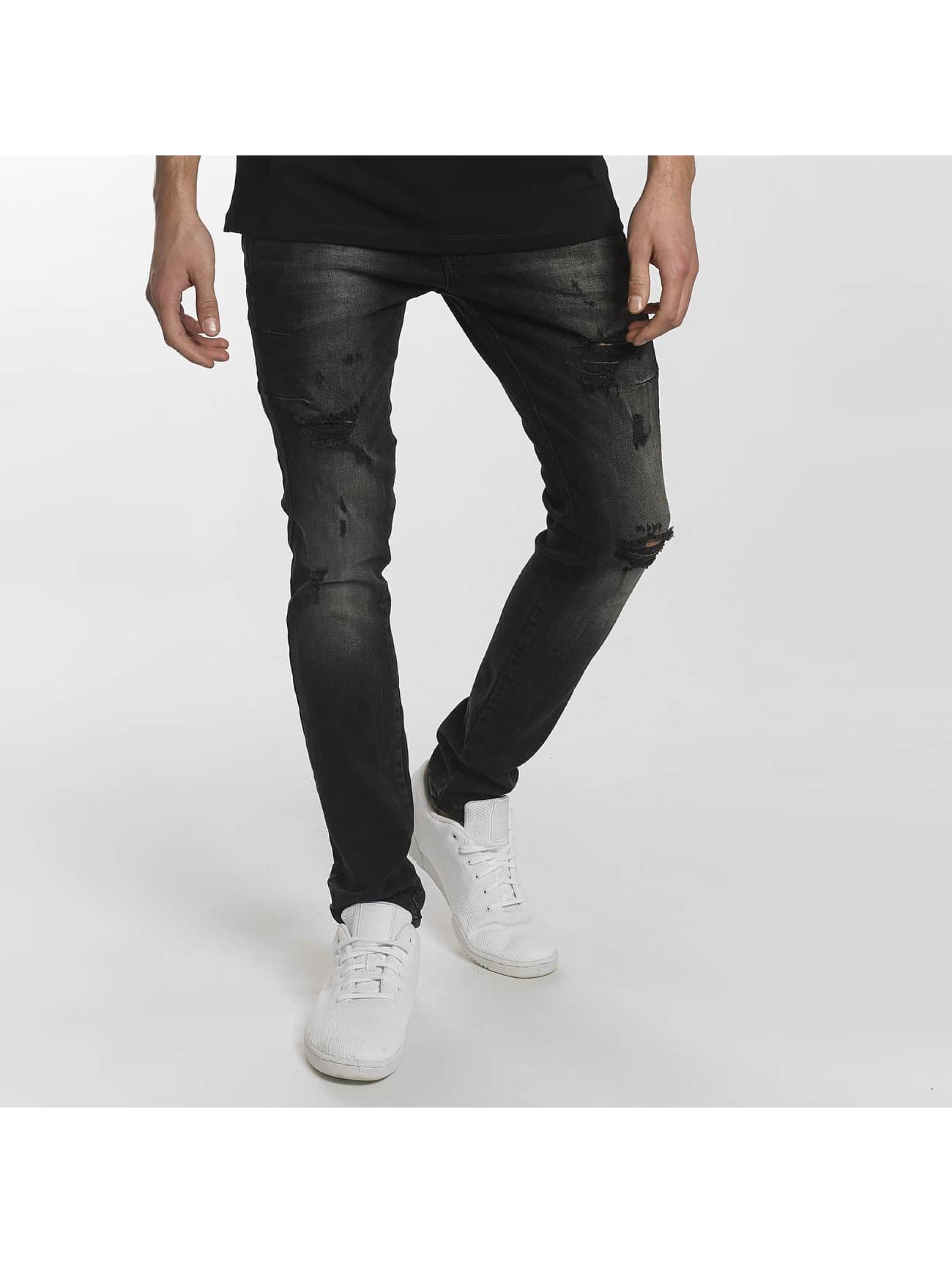 2Y / Slim Fit Jeans Modern Tactic in black W 32