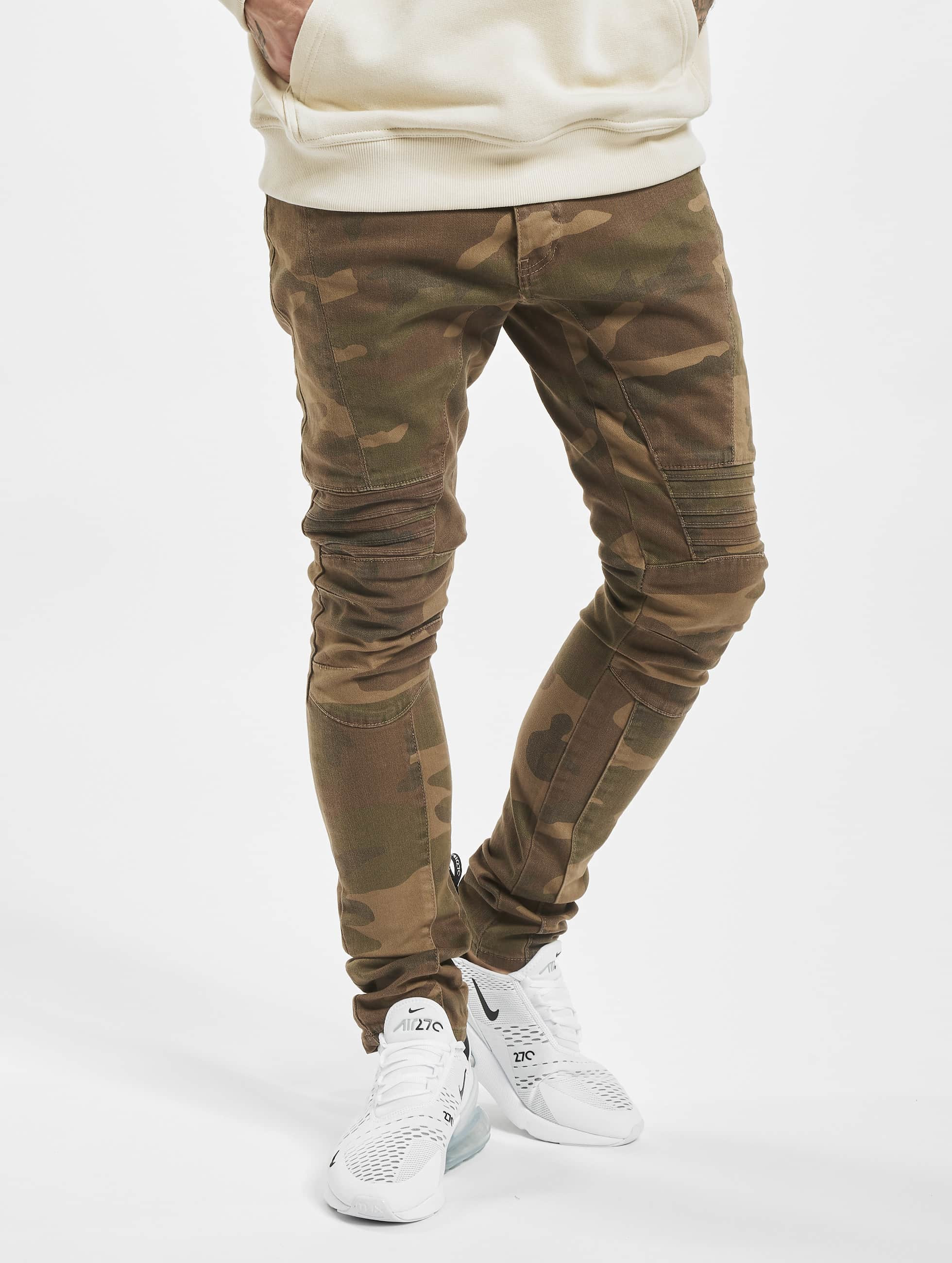 2Y Männer Slim Fit Jeans Pakka in camouflage