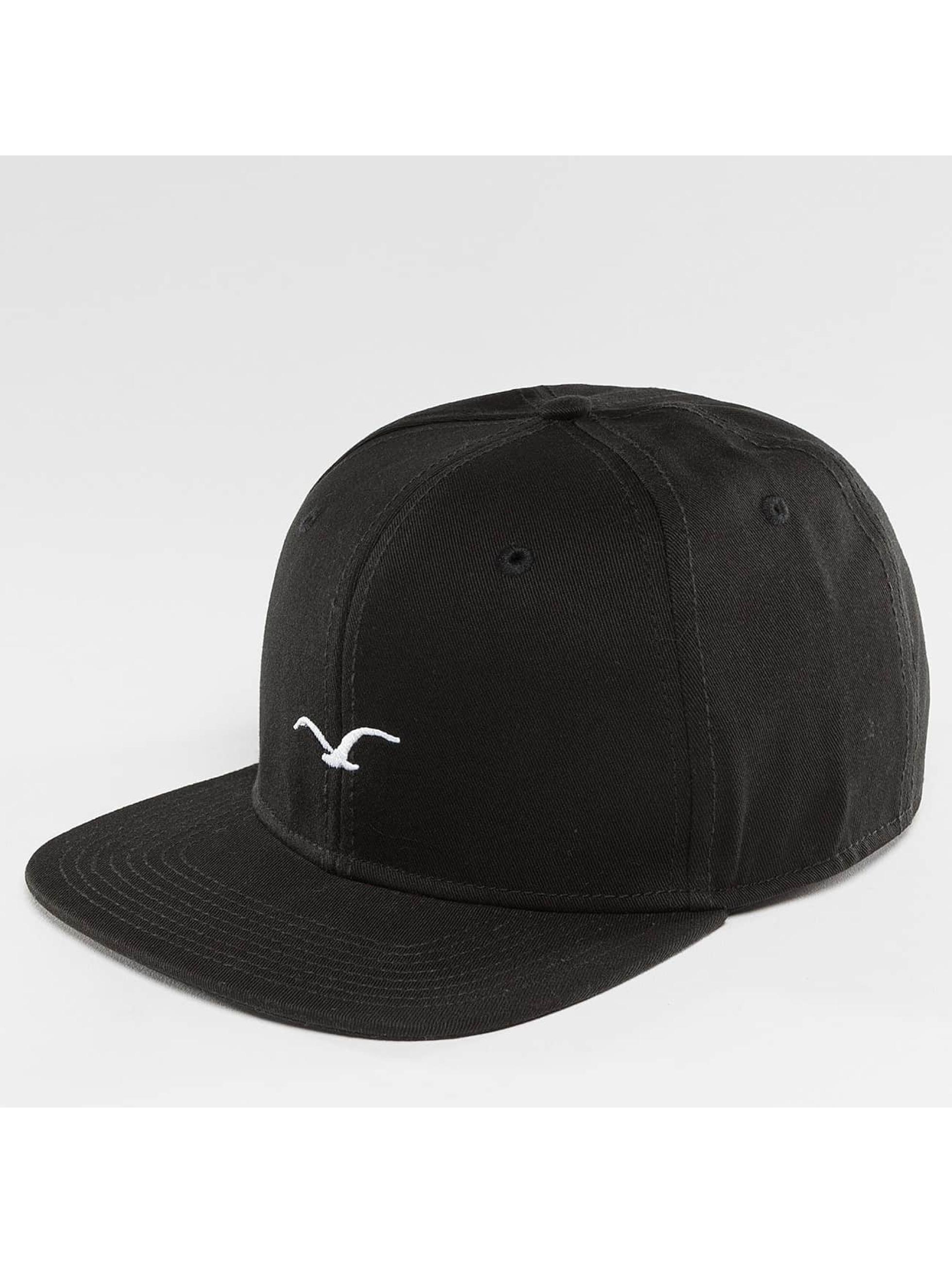 Cleptomanicx Männer Snapback Cap Mini Möwe in schwarz