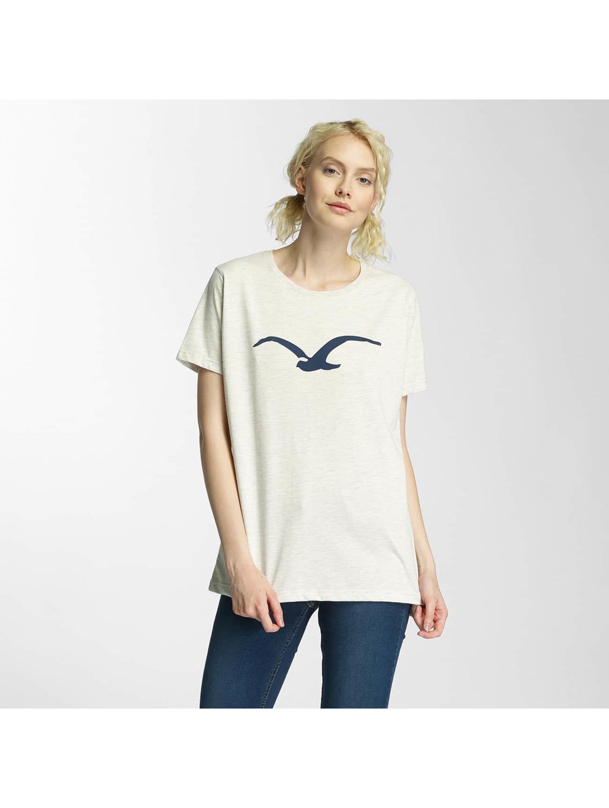 Cleptomanicx Frauen T-Shirt Möwe in beige