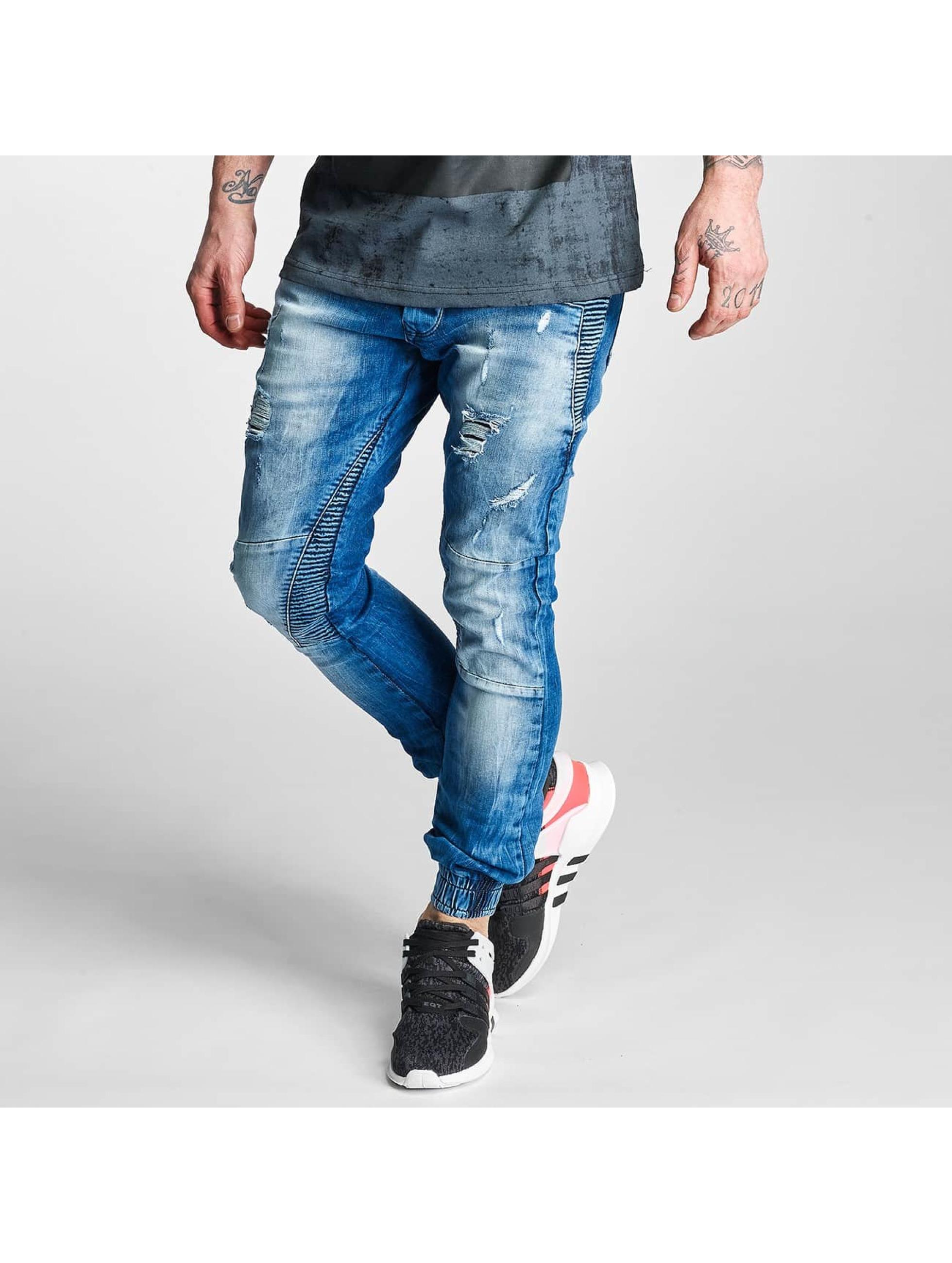 2Y Männer Slim Fit Jeans Denim in blau