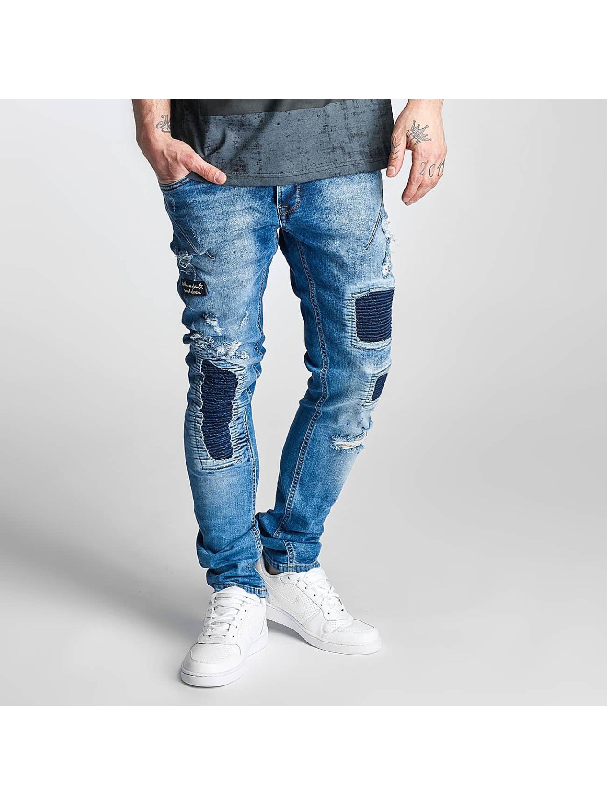 2Y Männer Slim Fit Jeans Woonun in blau
