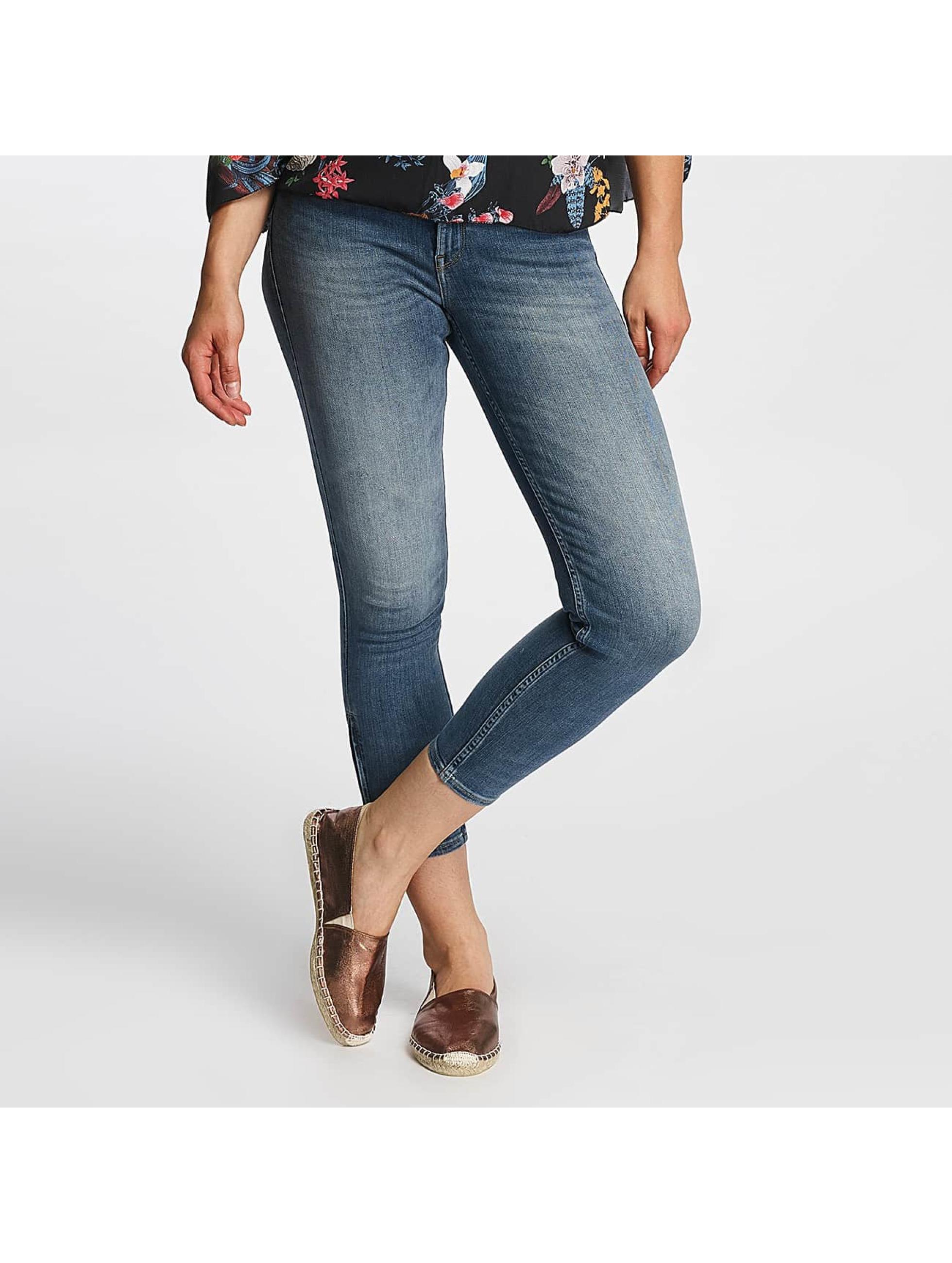 Lee Frauen Skinny Jeans Scarlett Cropped in blau