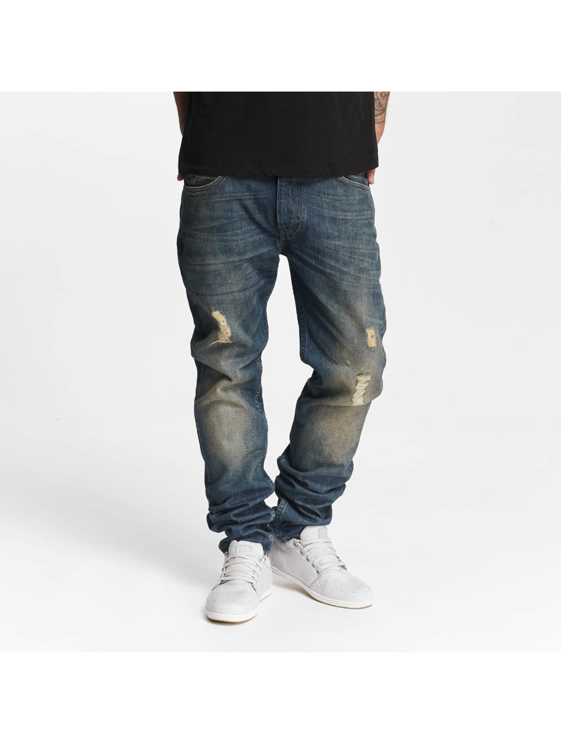 Lee Männer Slim Fit Jeans Rider Destroyed in blau