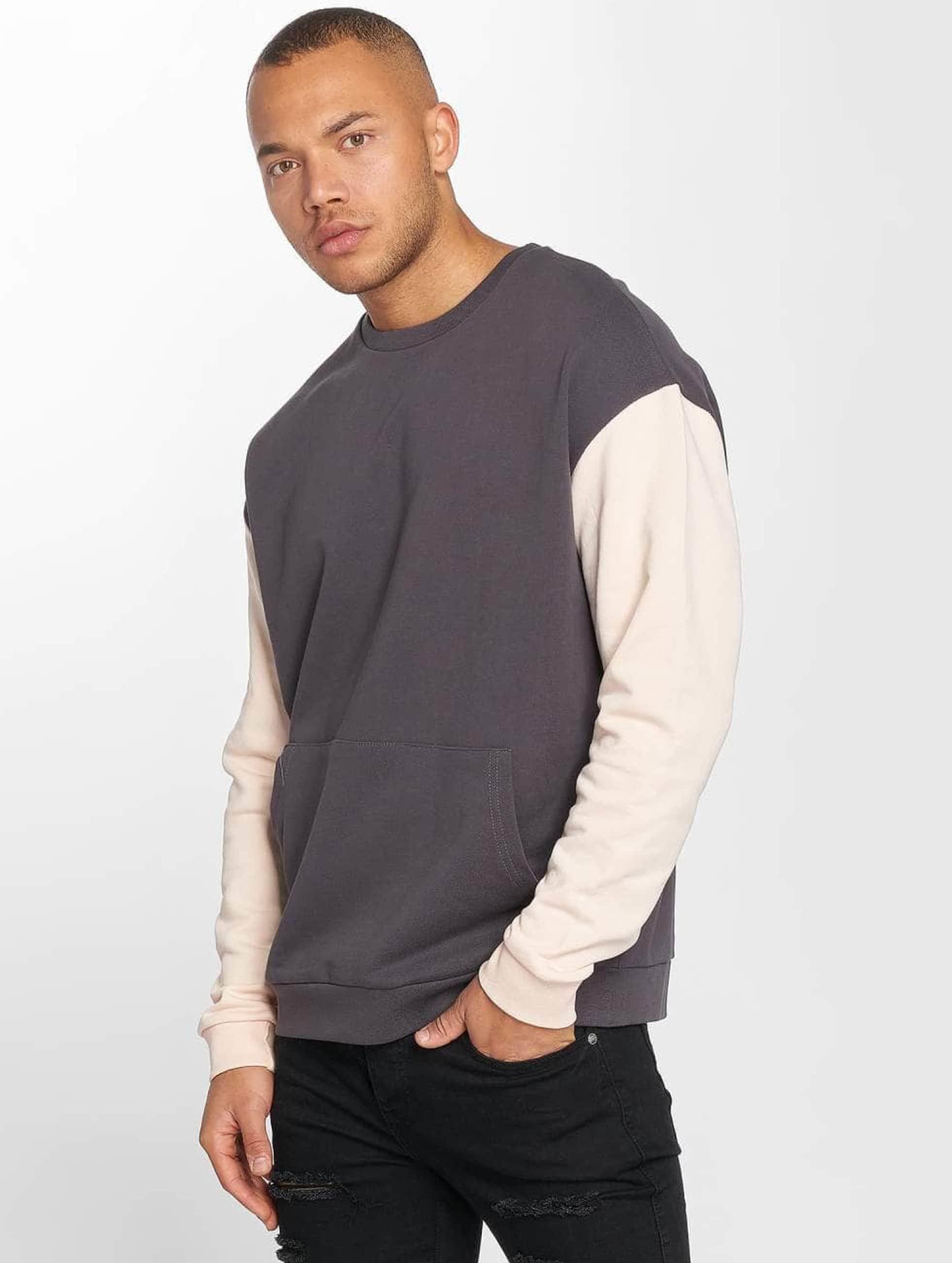 DEF Männer Pullover Kangaroo in grau