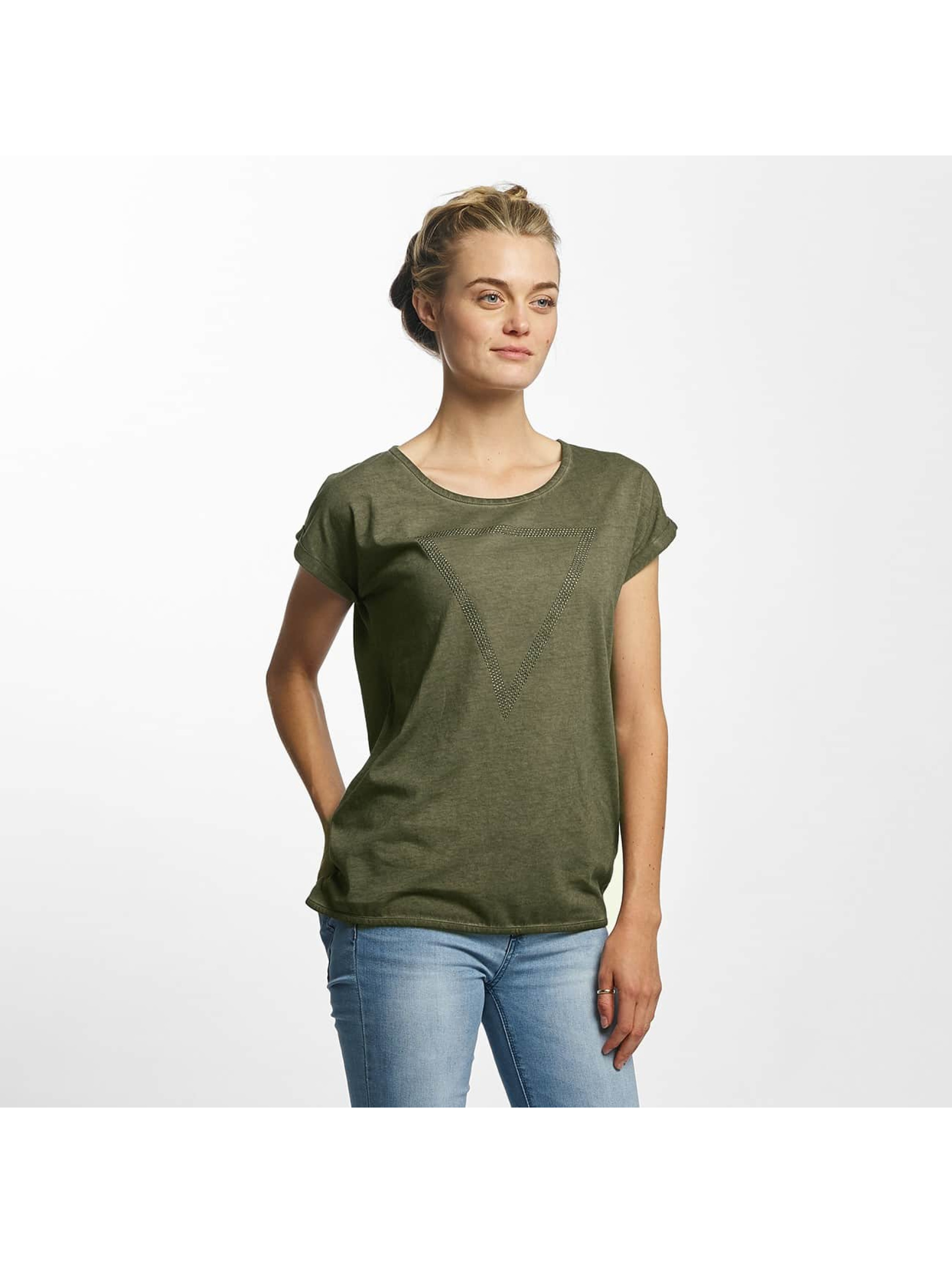 Mavi Jeans Frauen T-Shirt Triangle in grün