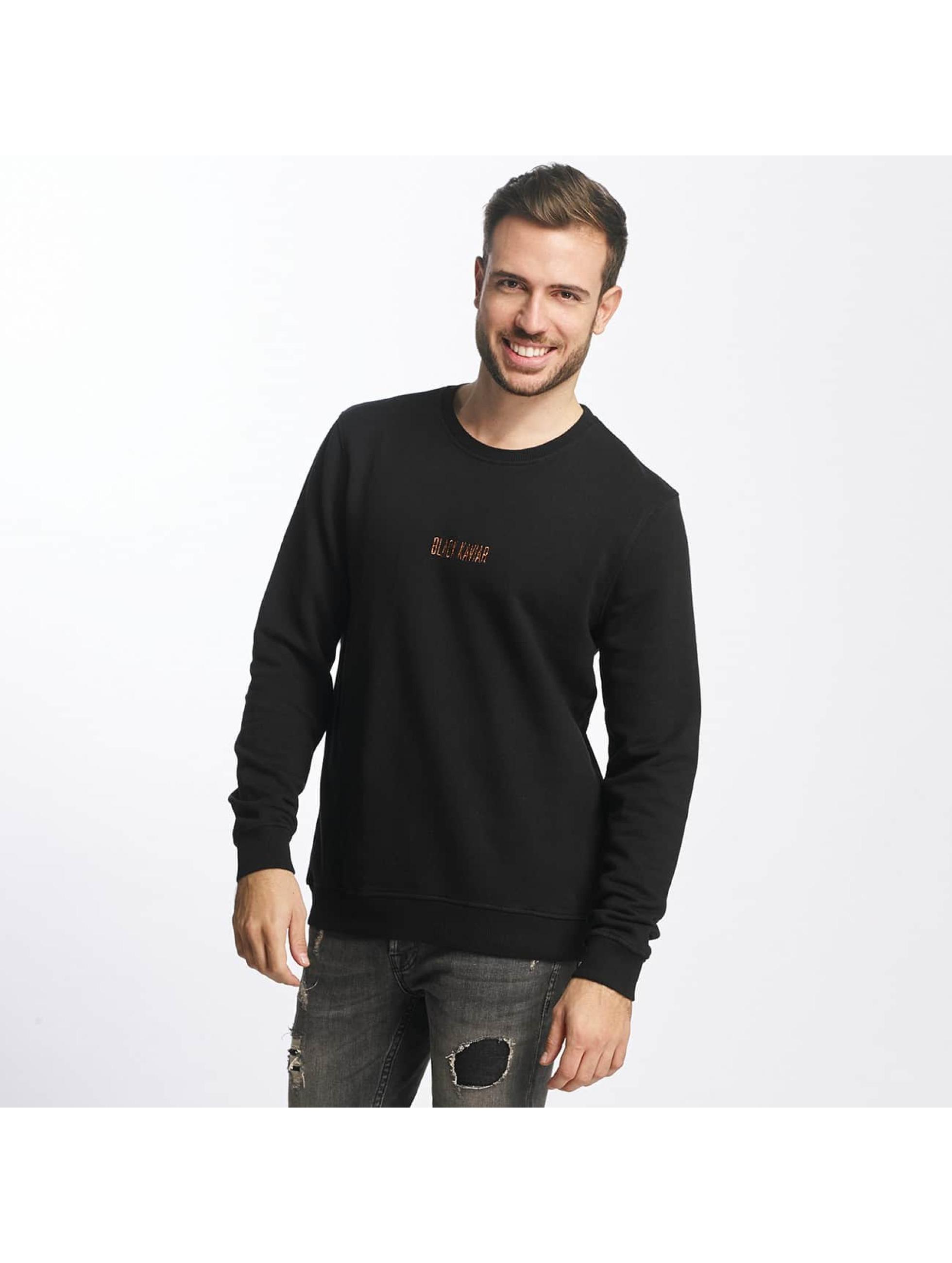Black Kaviar Männer Pullover Riyake in schwarz