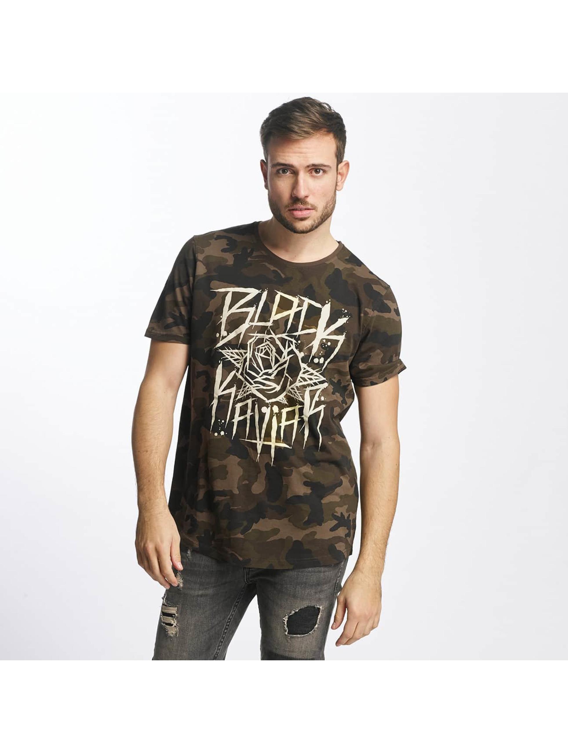 Black Kaviar Männer T-Shirt Rundrun in camouflage
