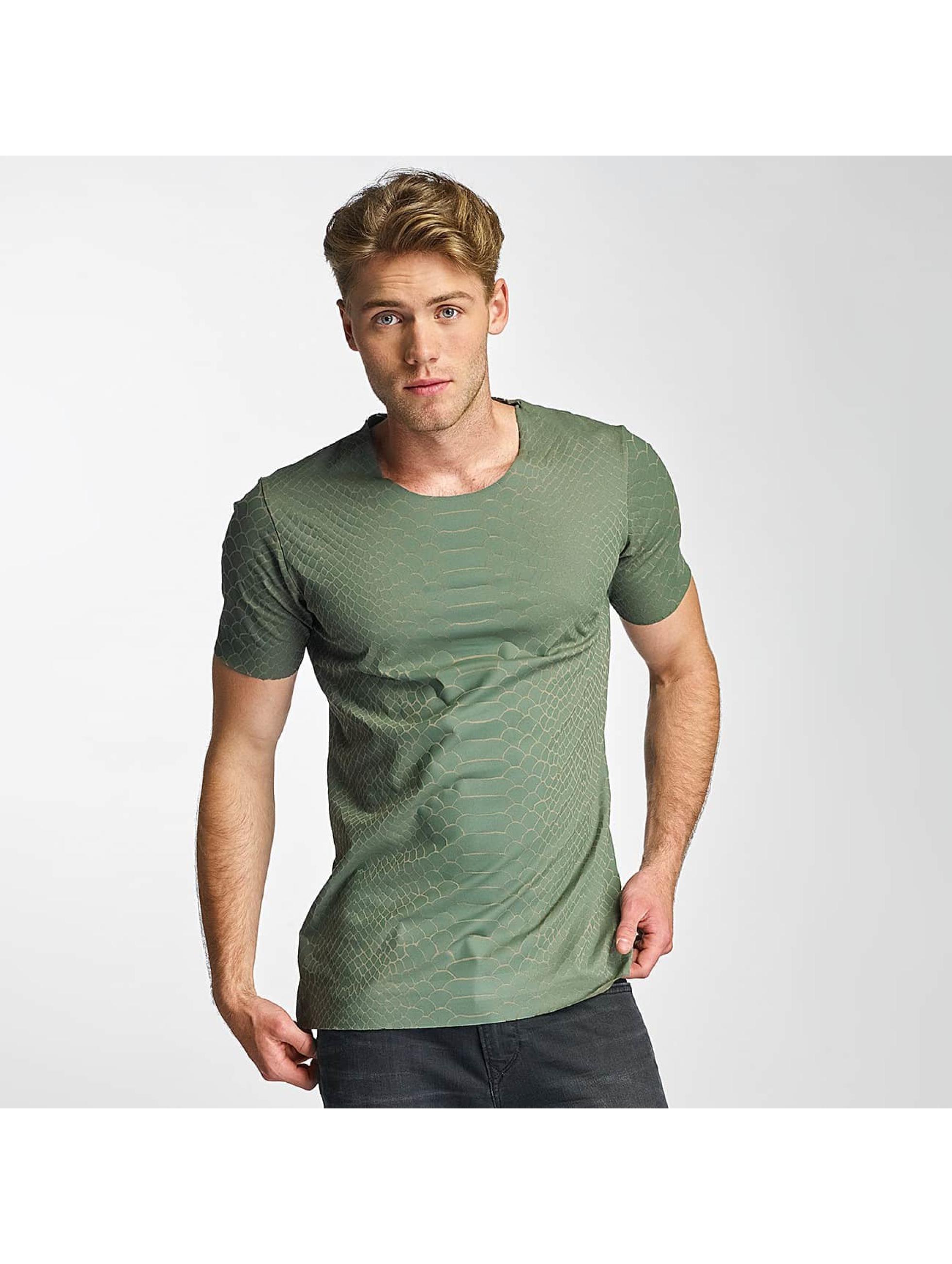 2Y Männer T-Shirt Snake in khaki