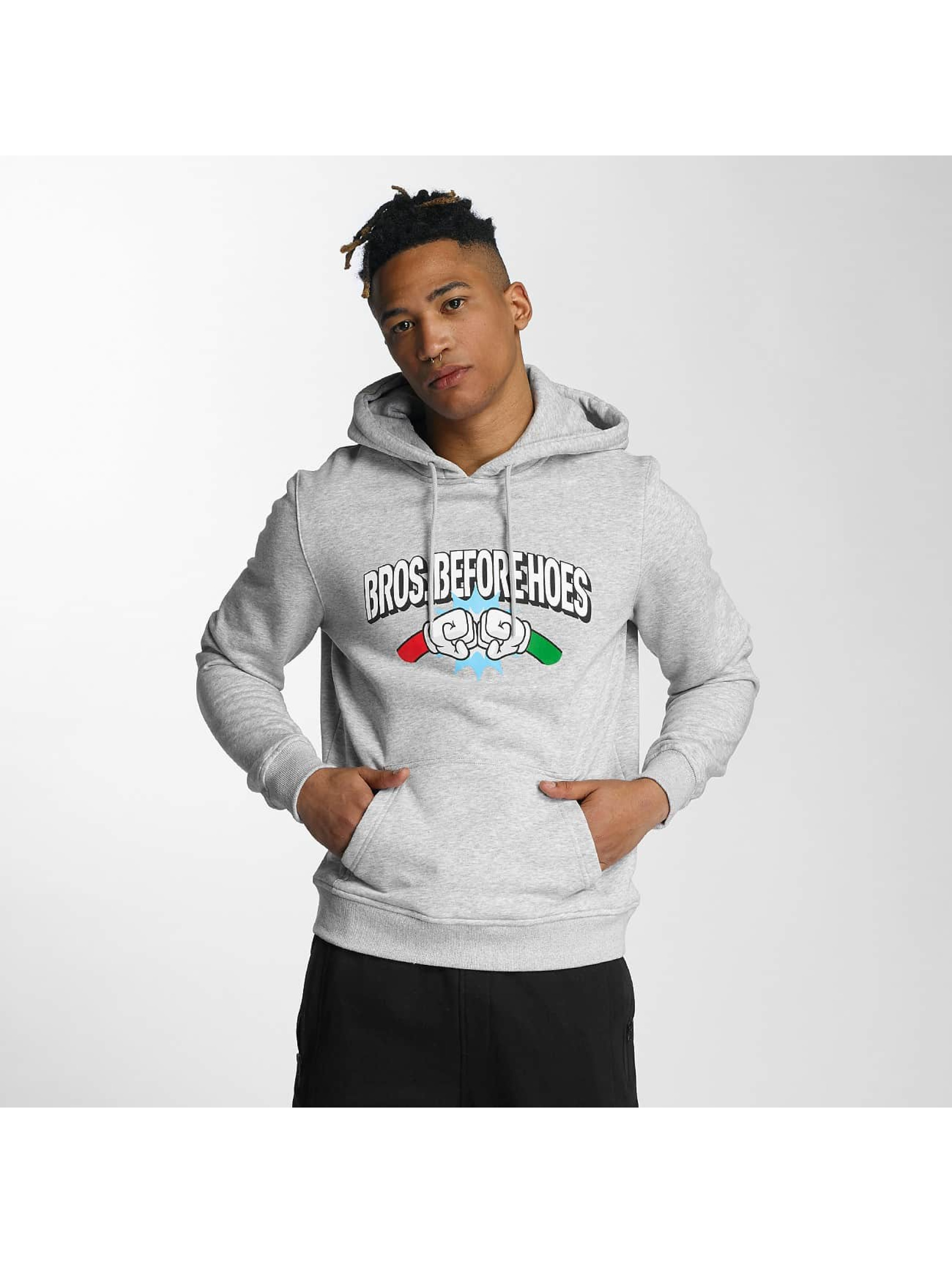 Hands of Gold Männer Hoody Bros Before Hoes in grau