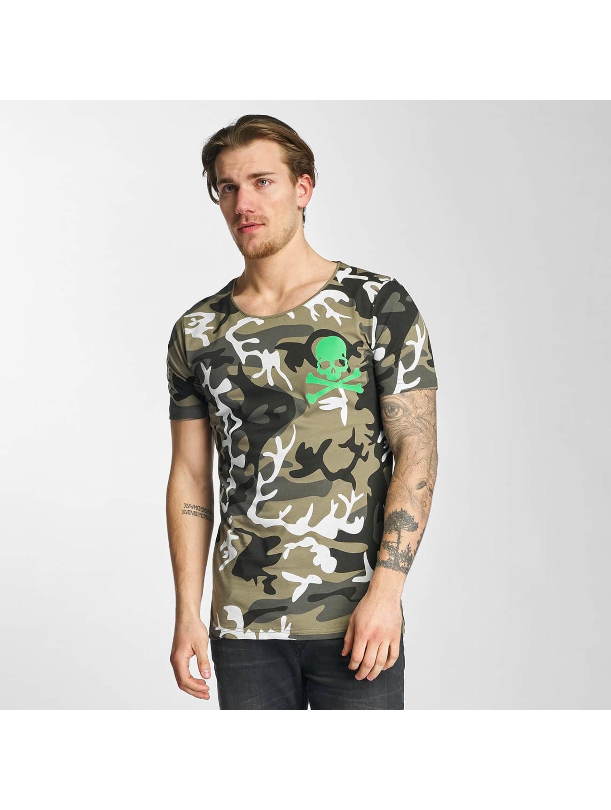2Y Männer T-Shirt Camo in khaki
