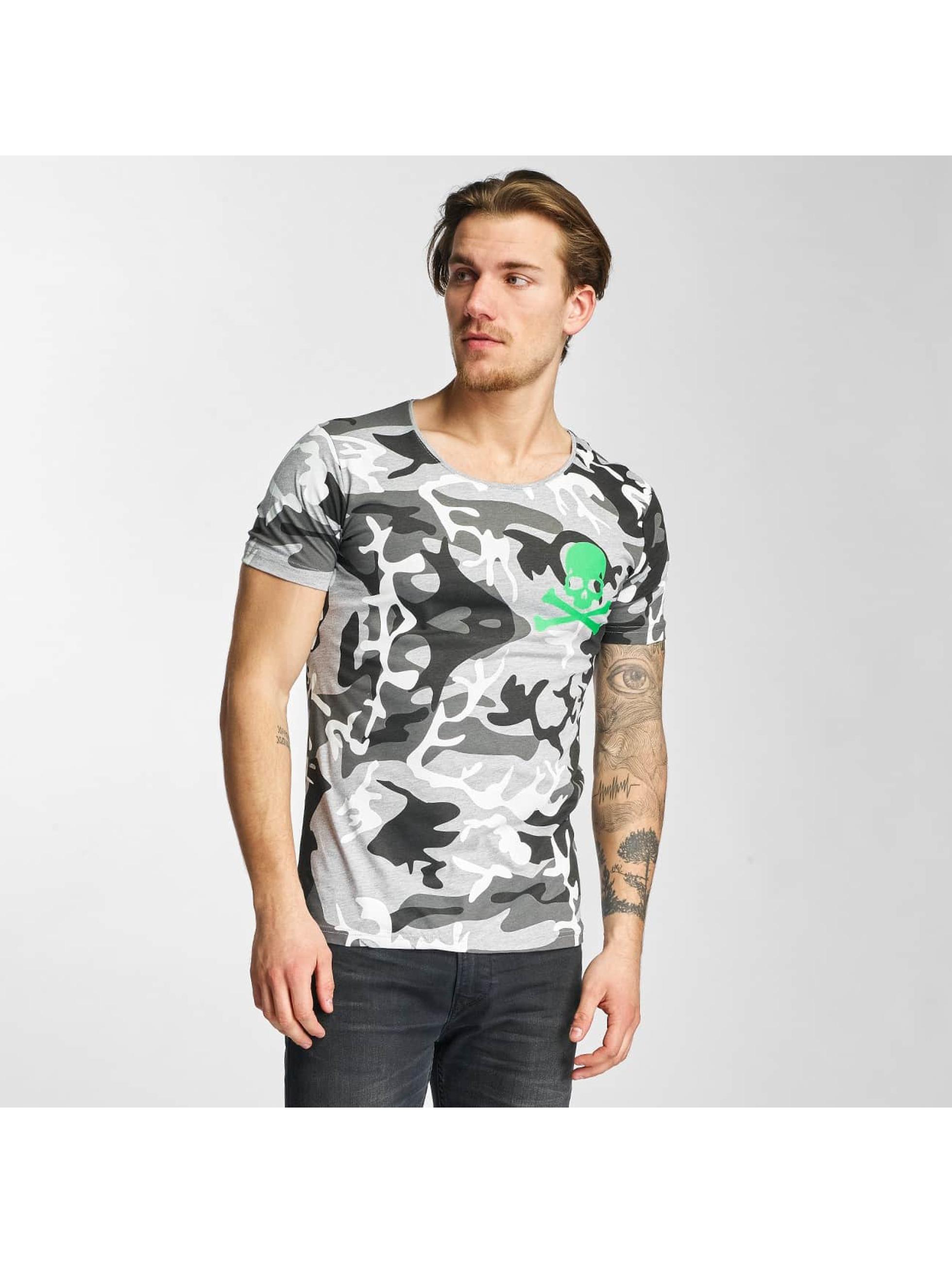 2Y Männer T-Shirt Camo in grau