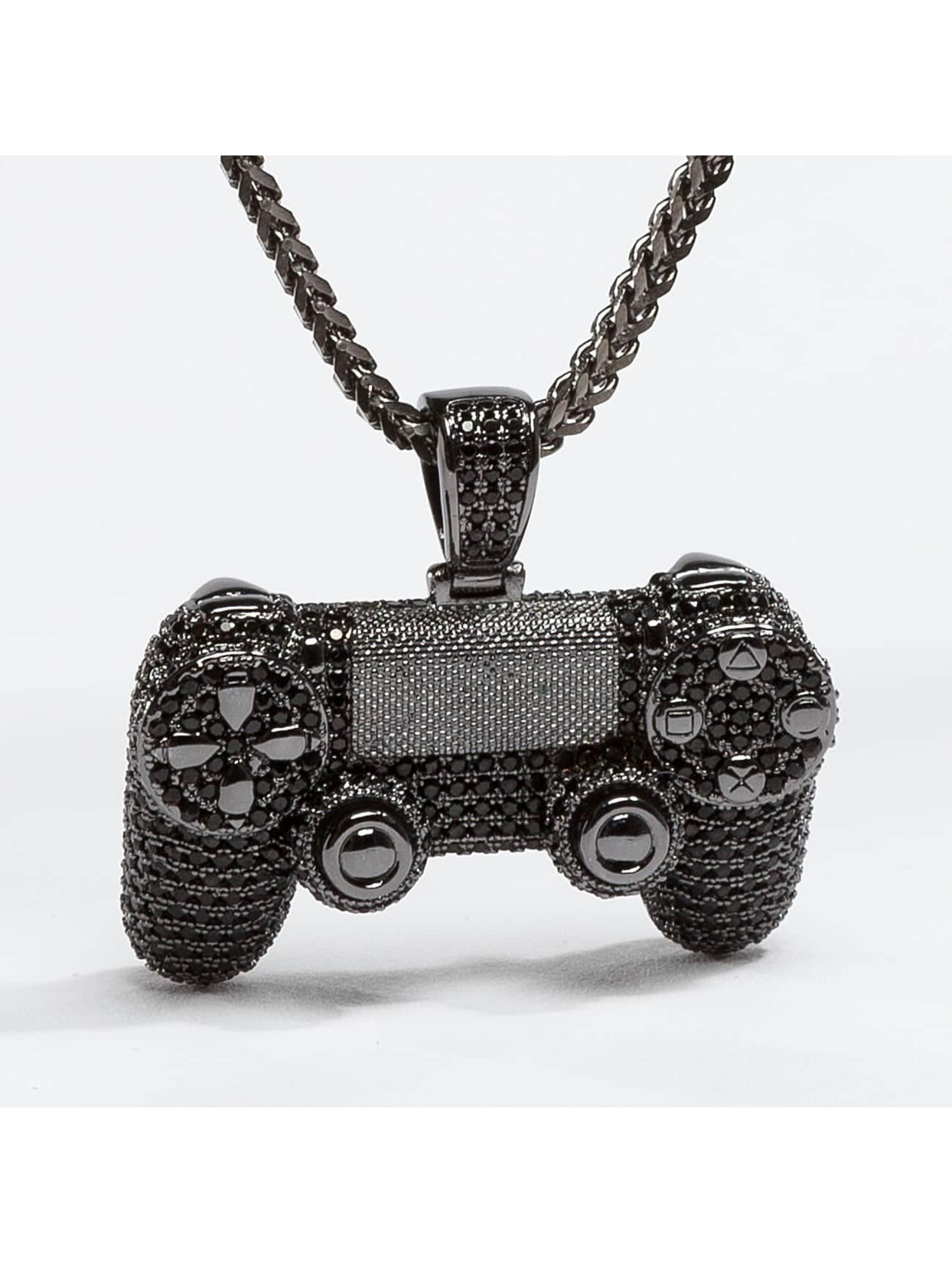 KING ICE Männer,Frauen Kette CZ Pro Gamer Controller in schwarz