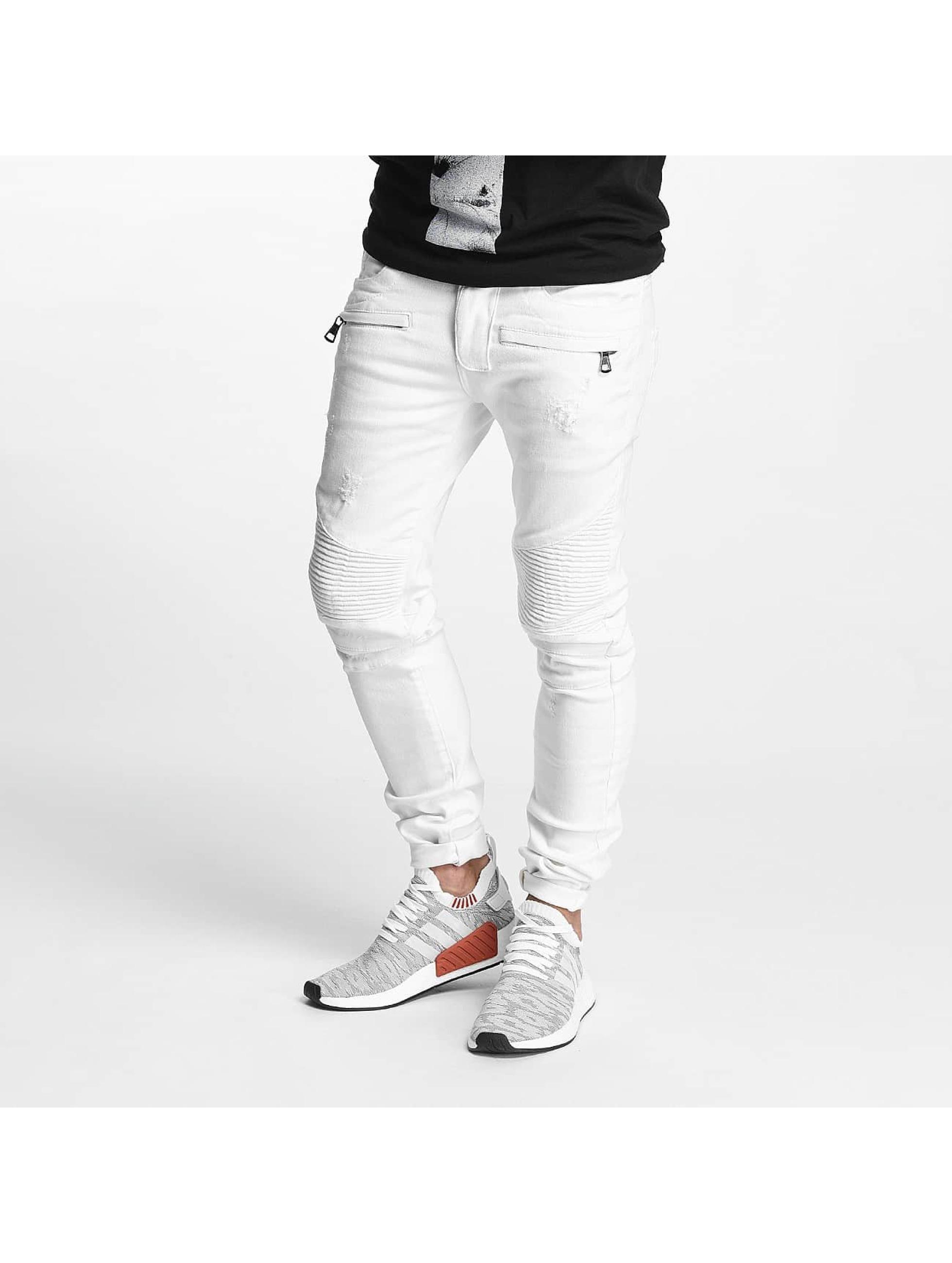 VSCT Clubwear Männer Straight Fit Jeans Liam in weiß