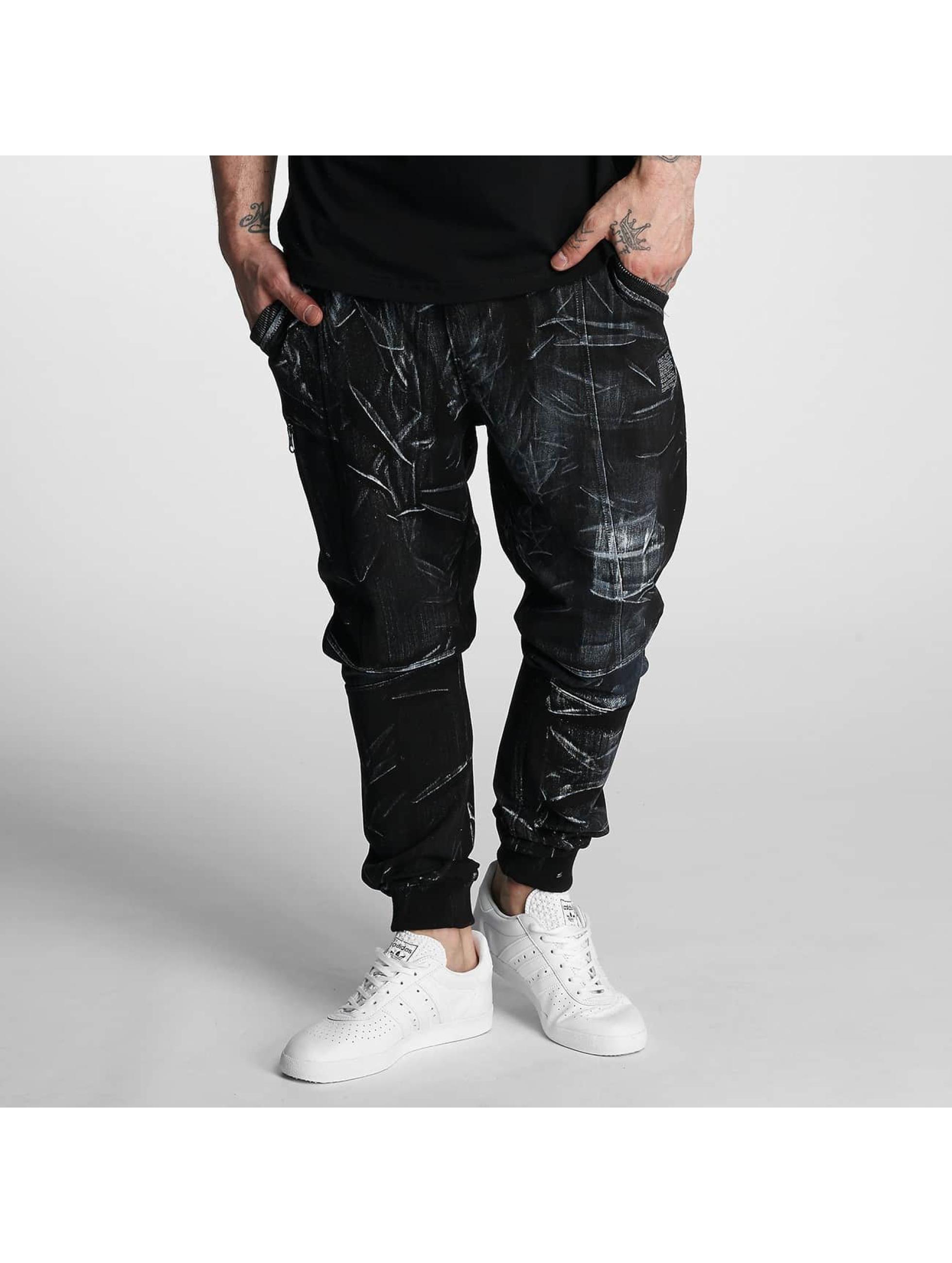 VSCT Clubwear Männer Jogginghose Twisted Anatomy in schwarz