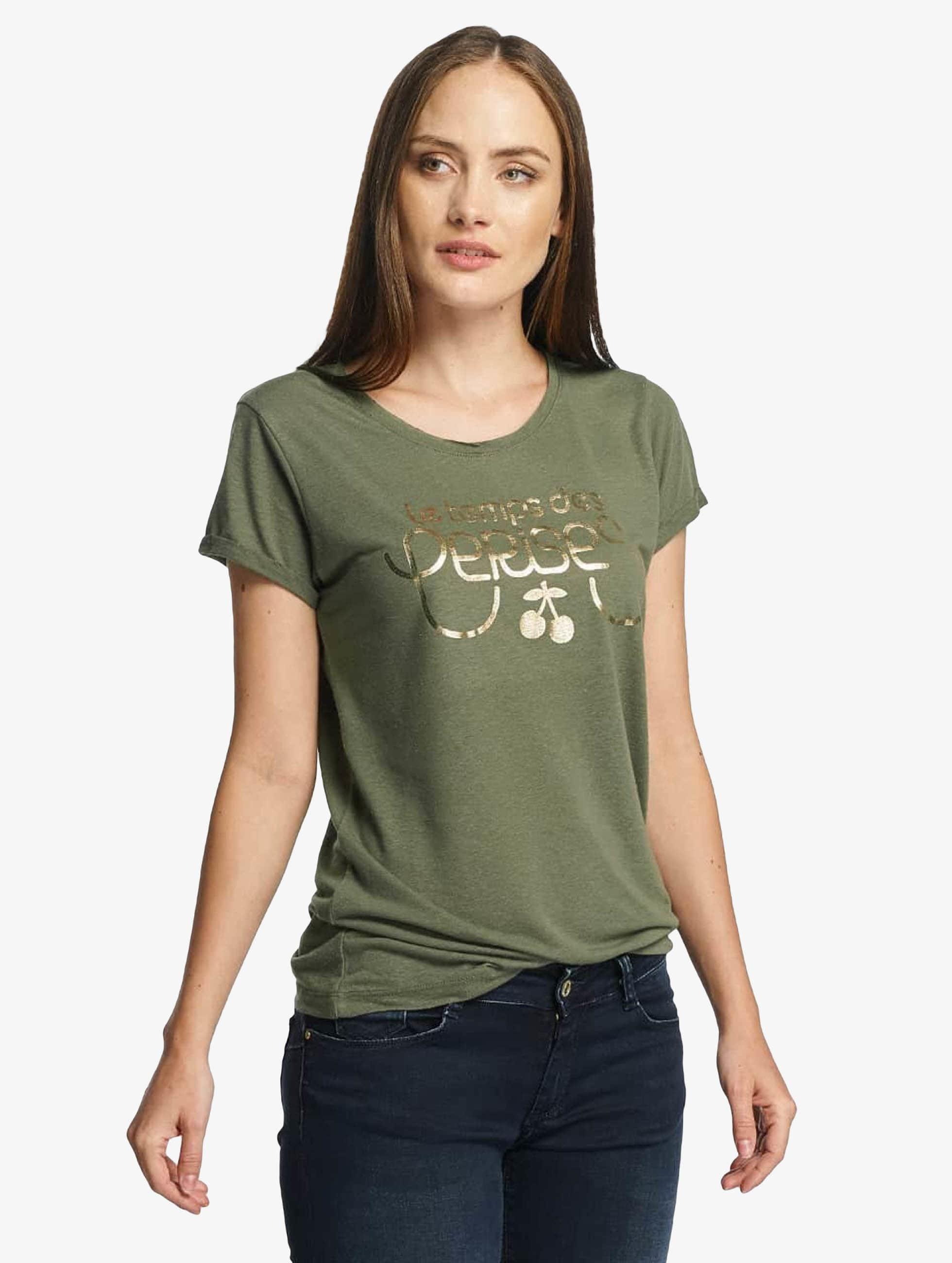 Le Temps Des Cerises Frauen T-Shirt Basitrame in khaki