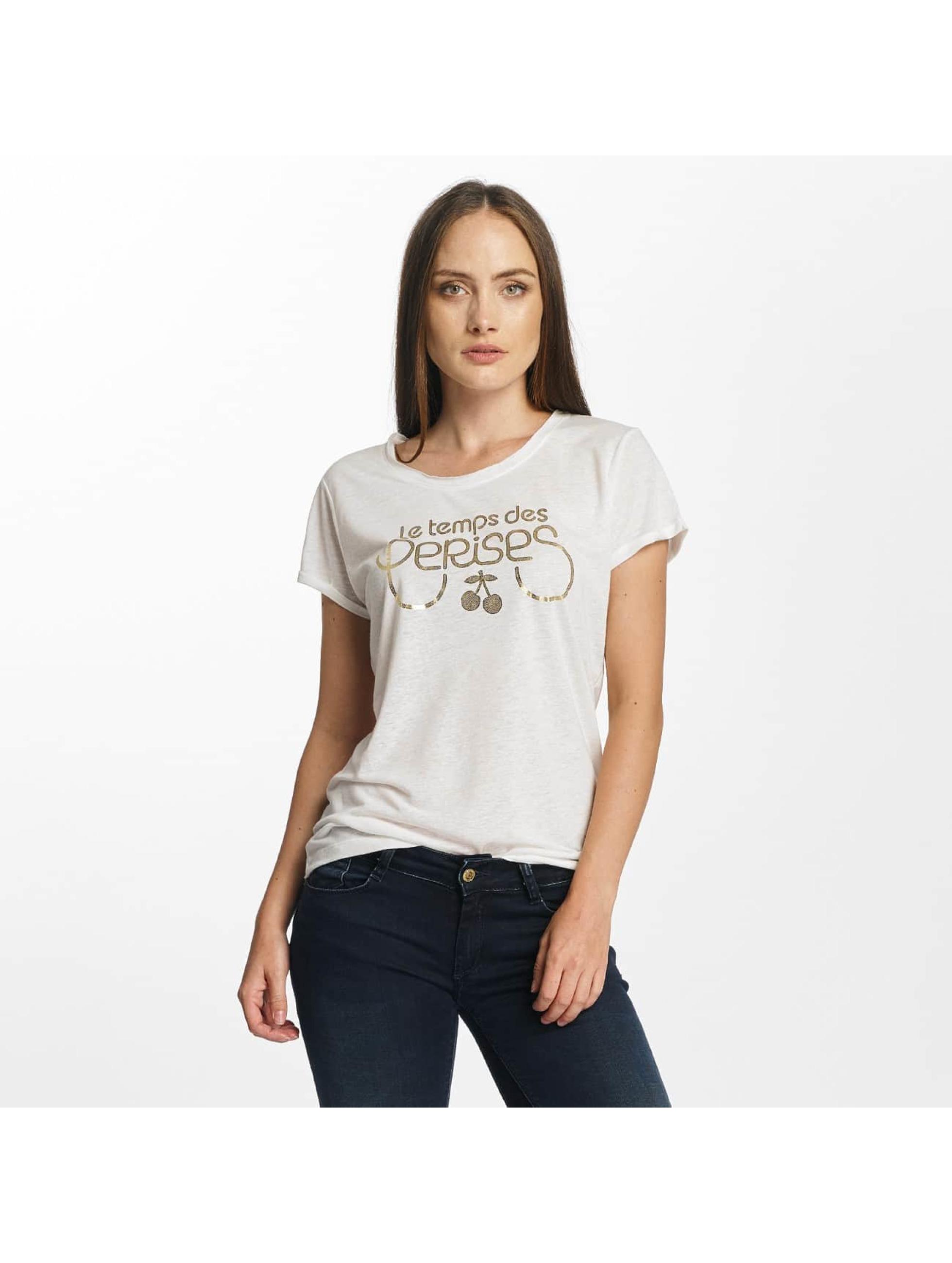 Le Temps Des Cerises Frauen T-Shirt Basitrame in weiß