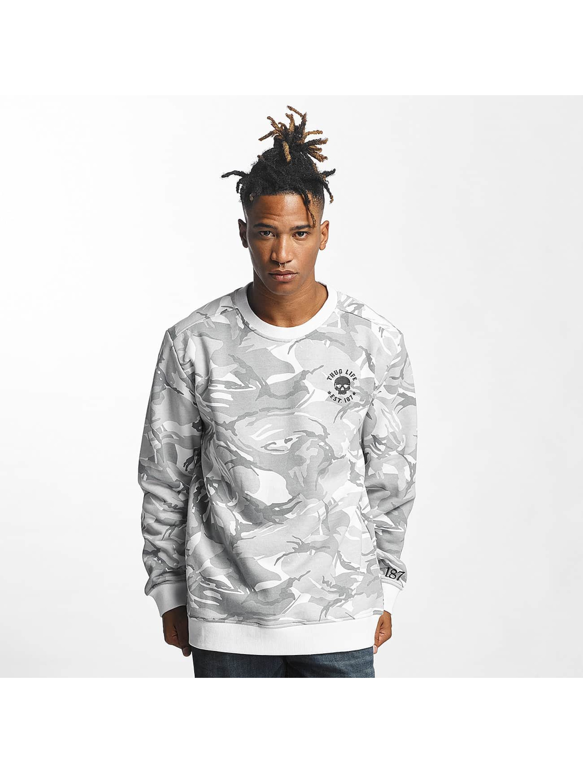 Thug Life Männer Pullover Hidden in weiß