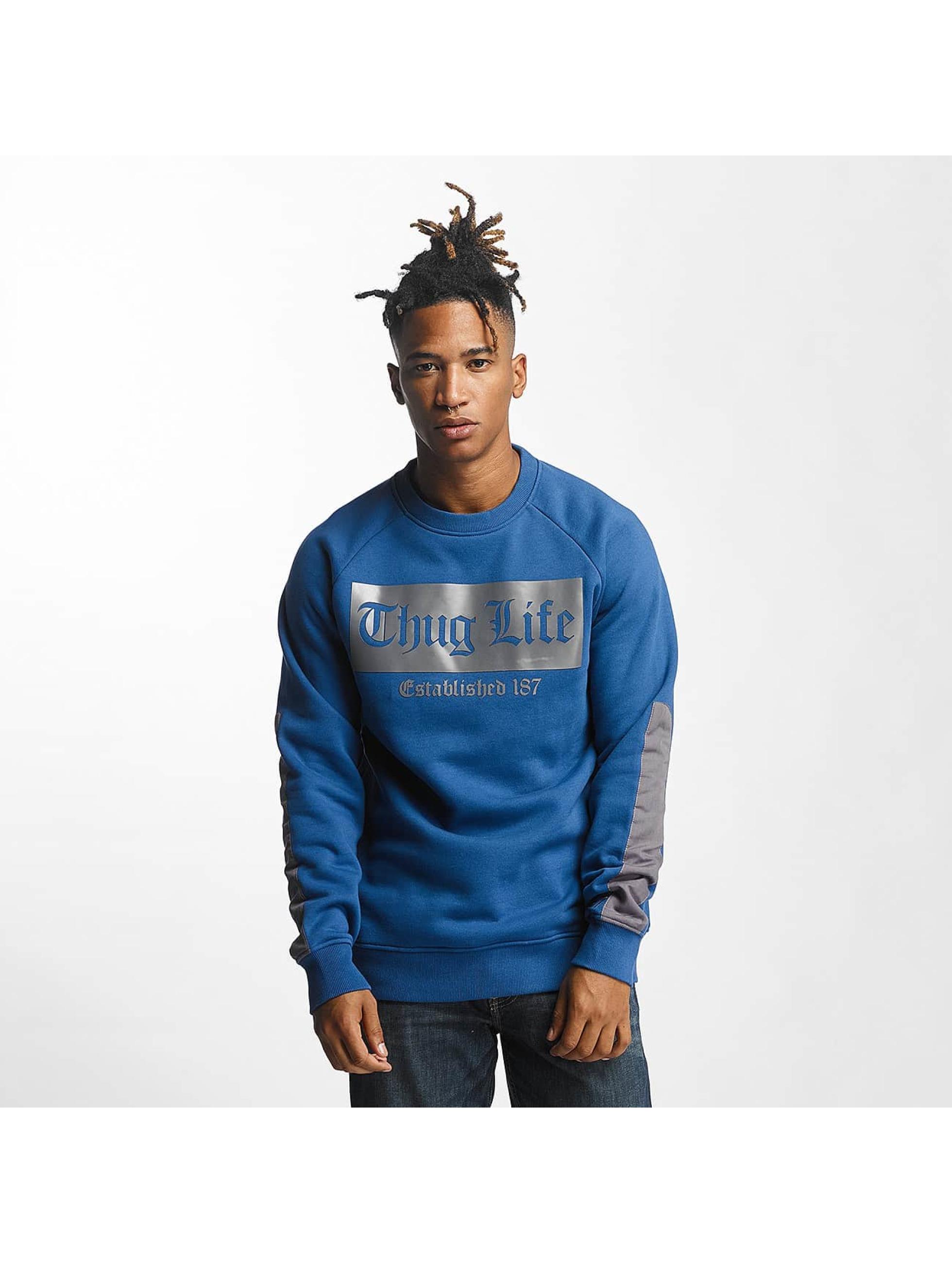 Thug Life Männer Pullover THGLFE in blau