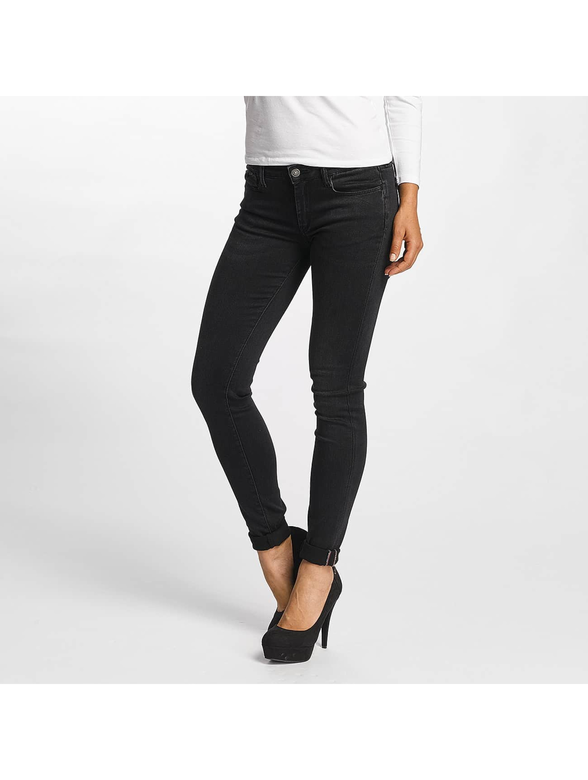 Le Temps Des Cerises Frauen Slim Fit Jeans Ultrapower Slim Fit in schwarz