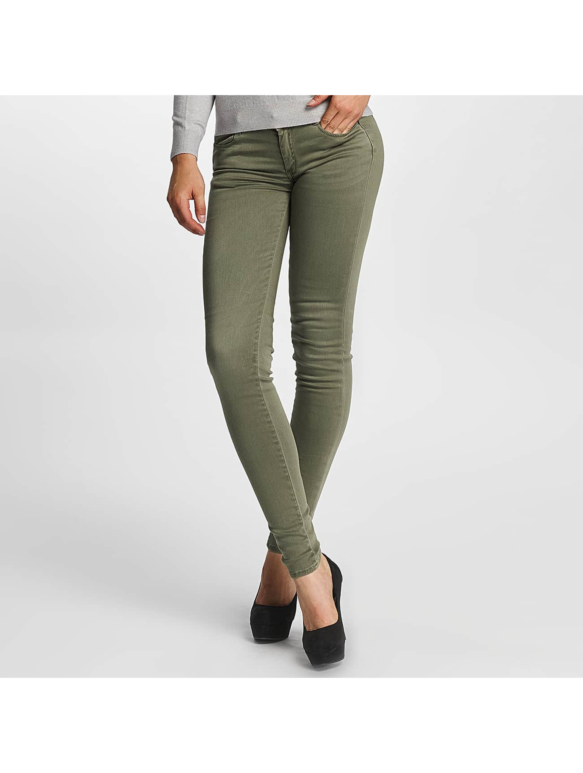 Le Temps Des Cerises Frauen Slim Fit Jeans Ultrapower in khaki