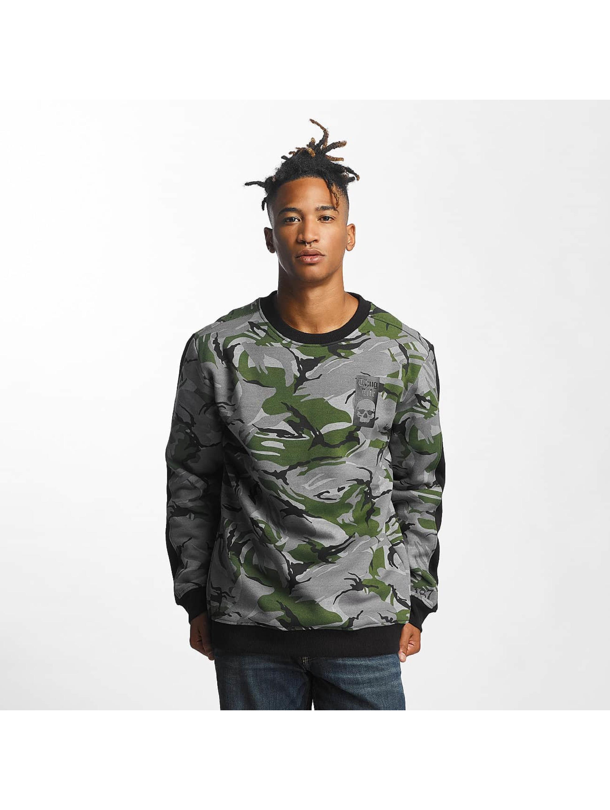 Thug Life Männer Pullover Simple in camouflage