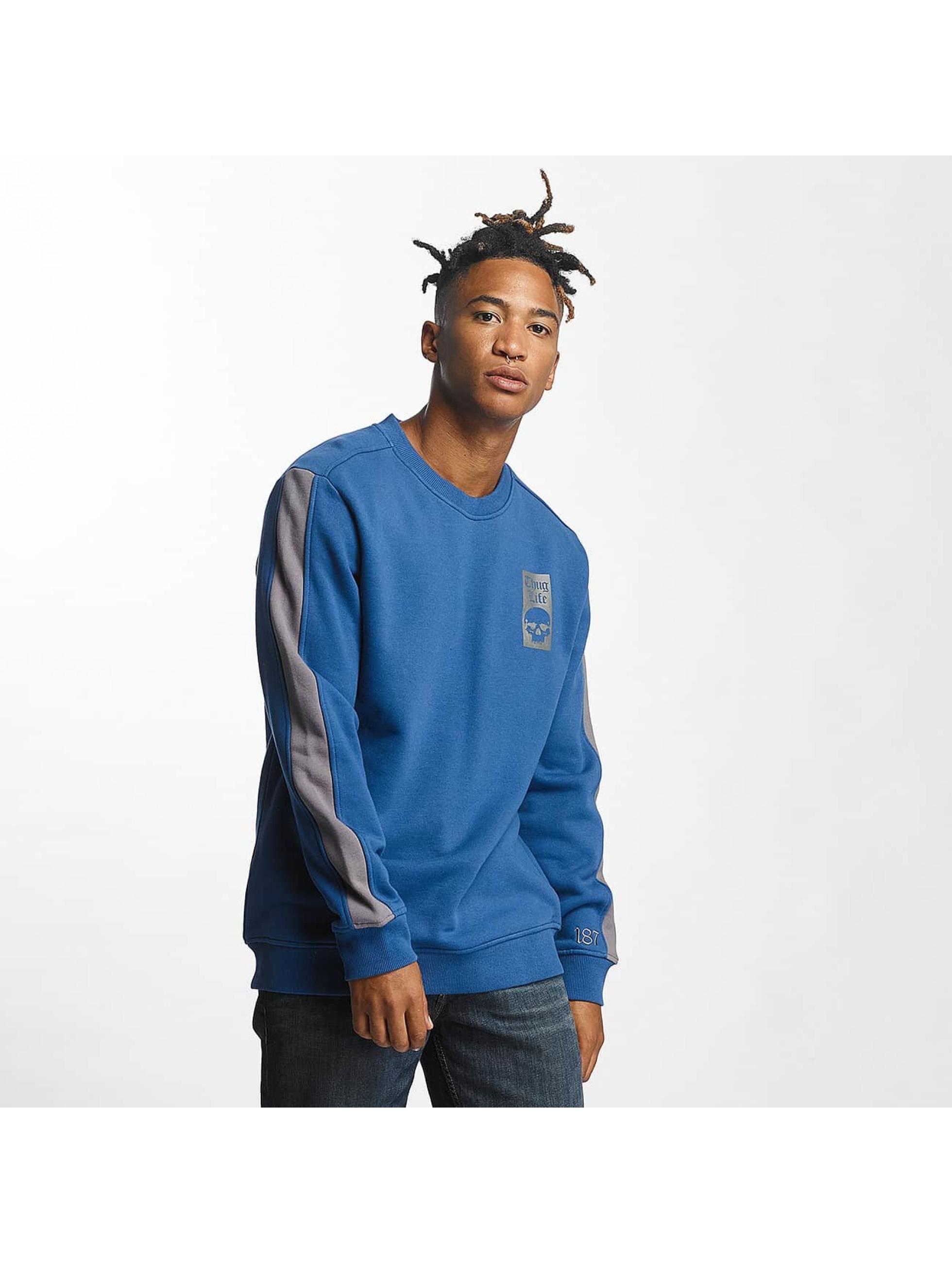 Thug Life Männer Pullover Simple in blau