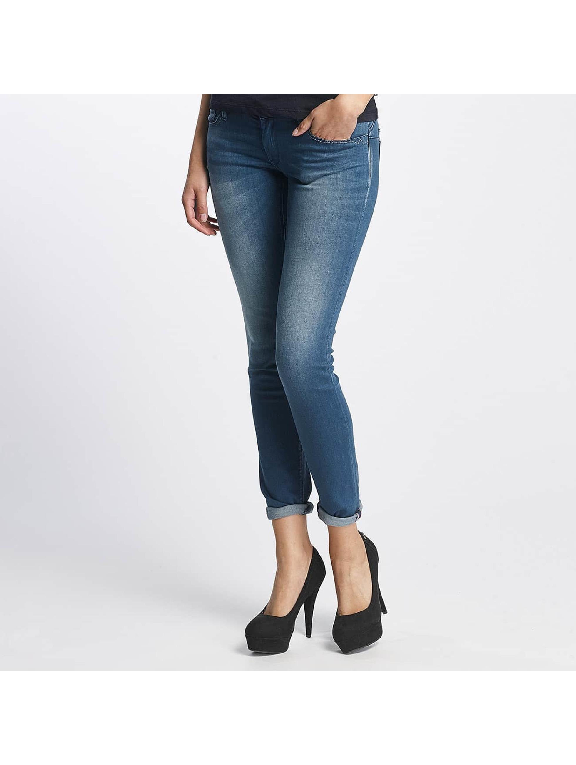 Le Temps Des Cerises Frauen Slim Fit Jeans Pulp Slim Fit in blau