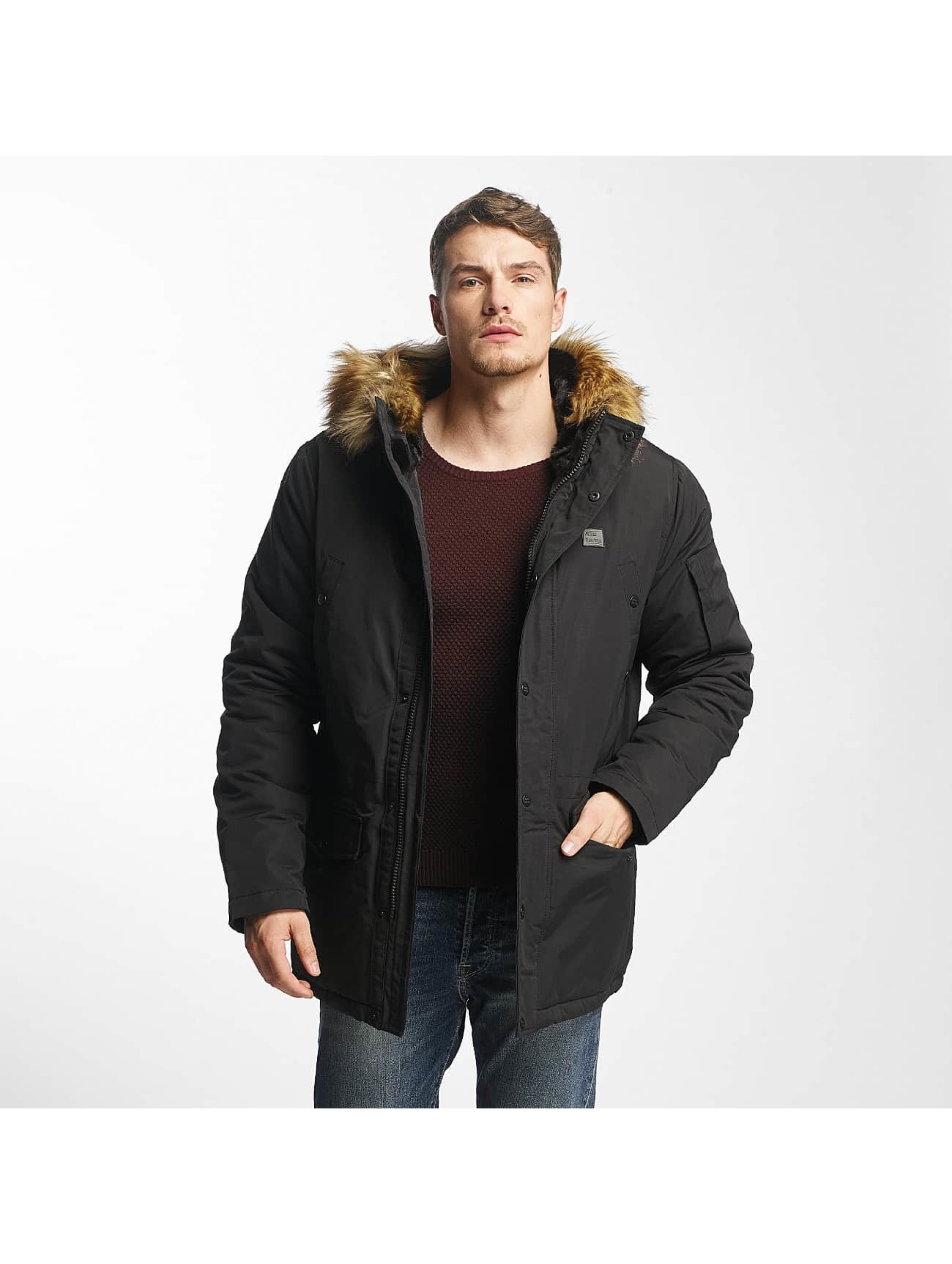 Vintage Industries Männer Winterjacke Circle in schwarz