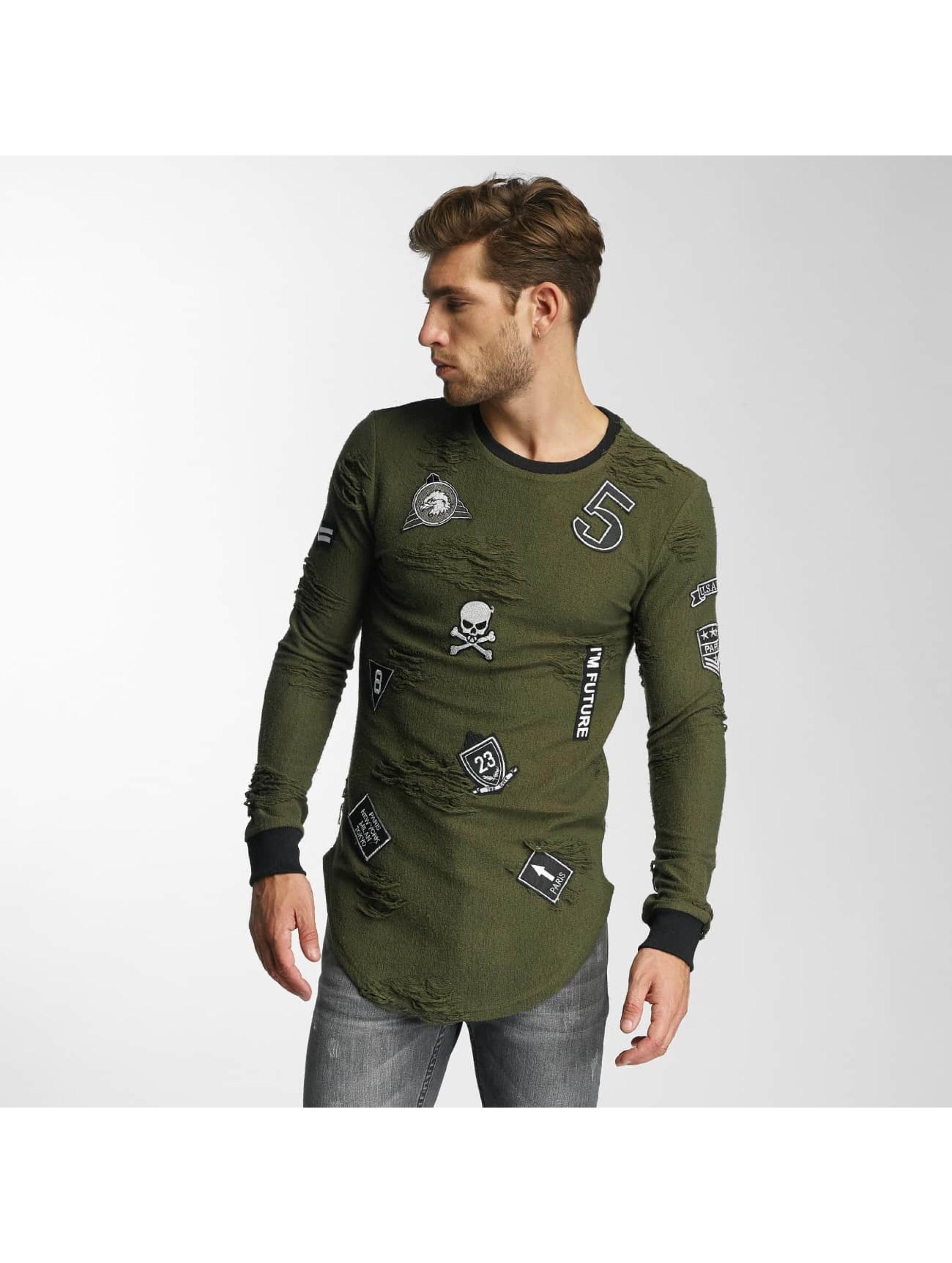 Paris Premium Männer,Frauen Pullover 5 in grün
