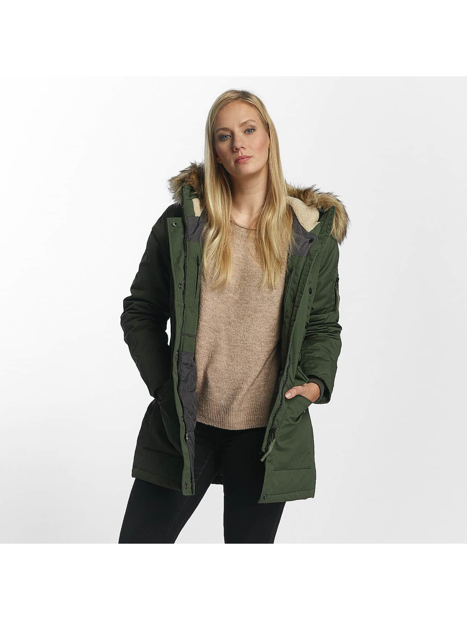 Vintage Industries Frauen Winterjacke Hailey in olive