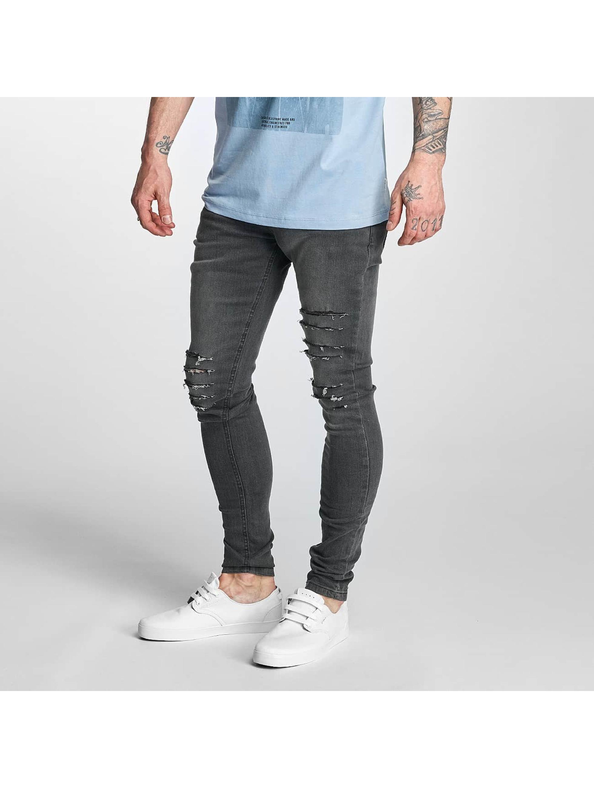 Criminal Damage Männer Skinny Jeans Koko in grau
