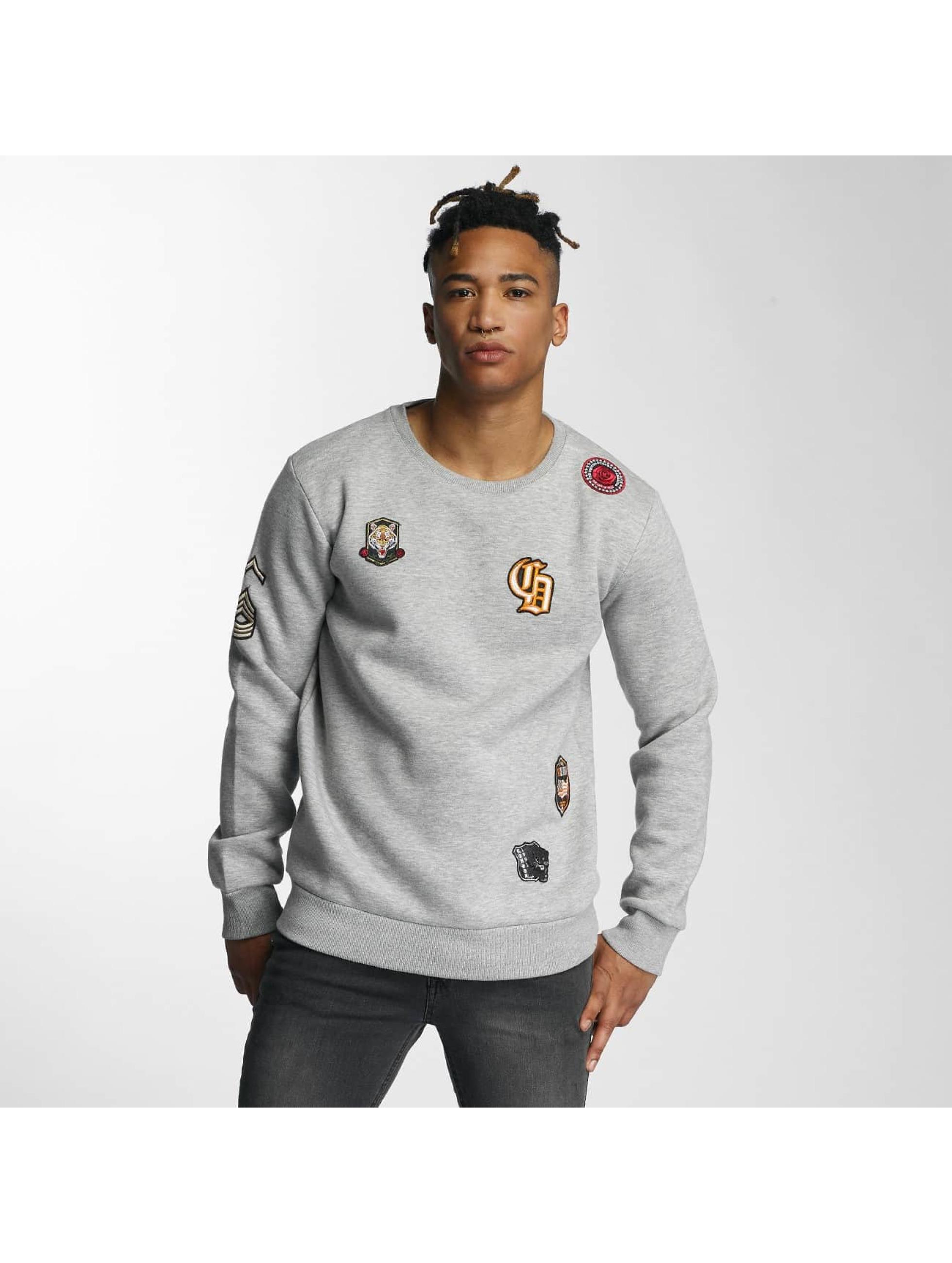Criminal Damage Männer Pullover Emblem in grau