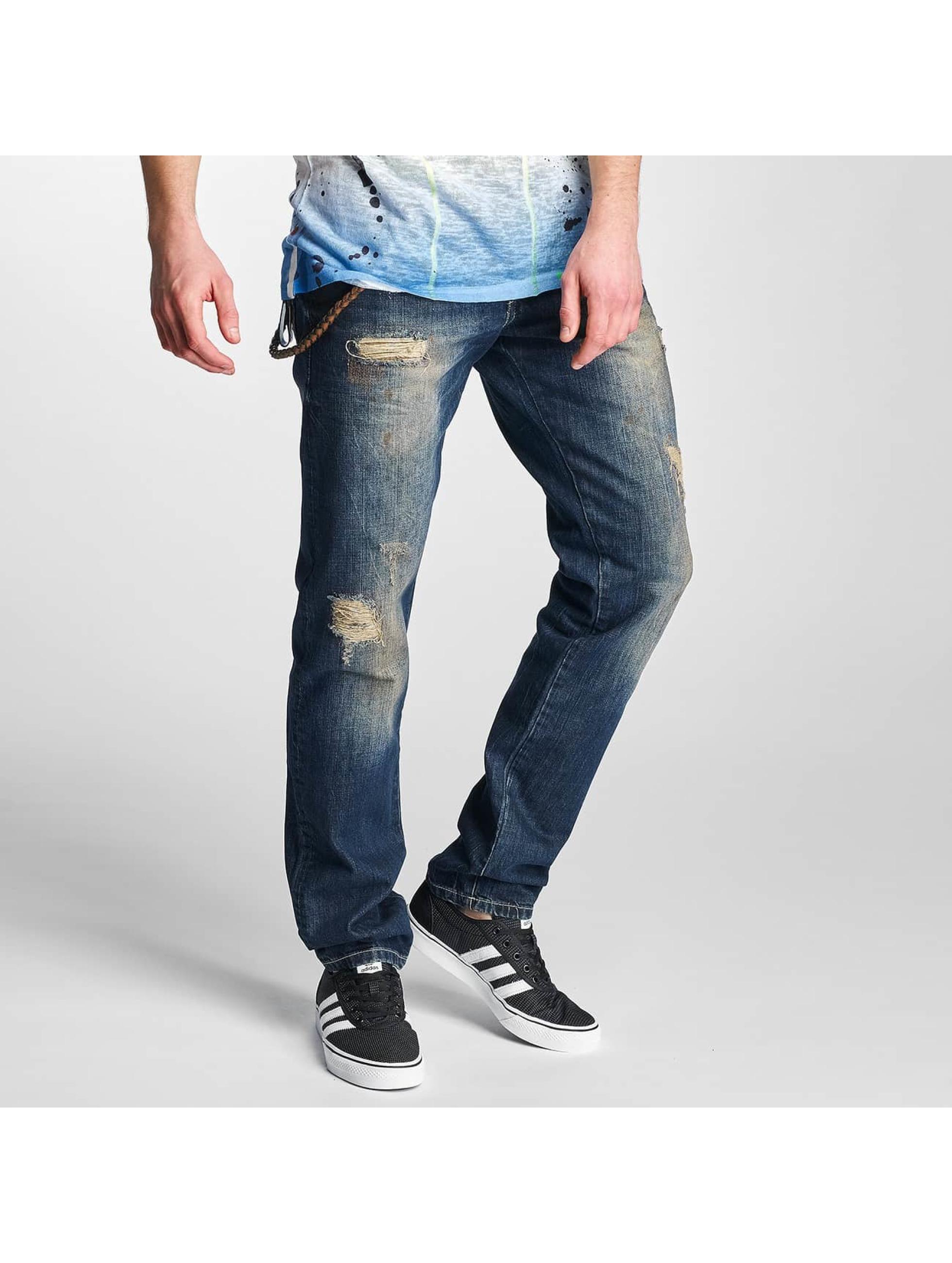 Cipo & Baxx Männer Straight Fit Jeans Shaquan in blau