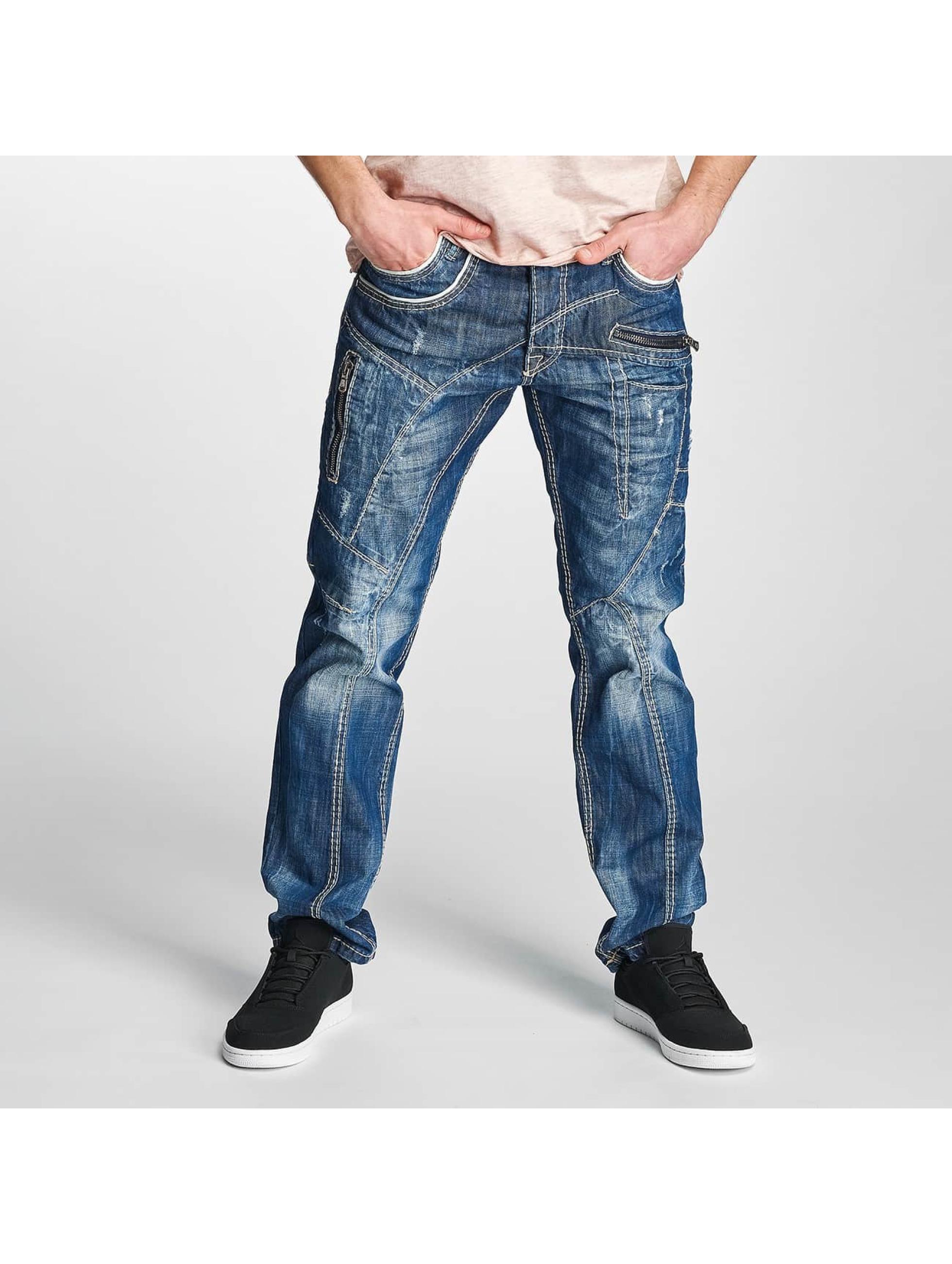 Cipo & Baxx Männer Straight Fit Jeans Jarule in blau